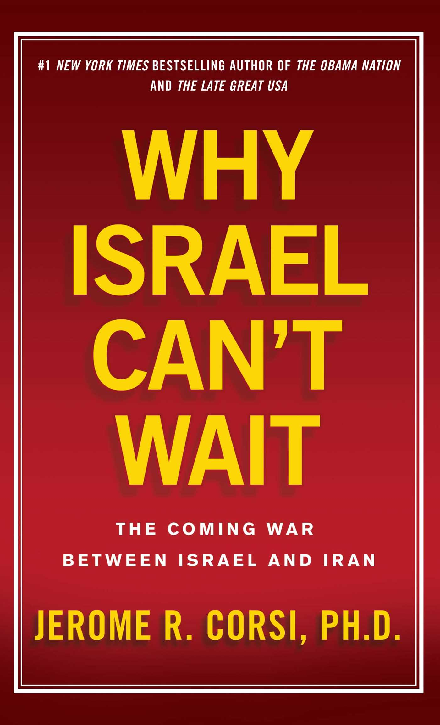 Why israel cant wait 9781439183014 hr
