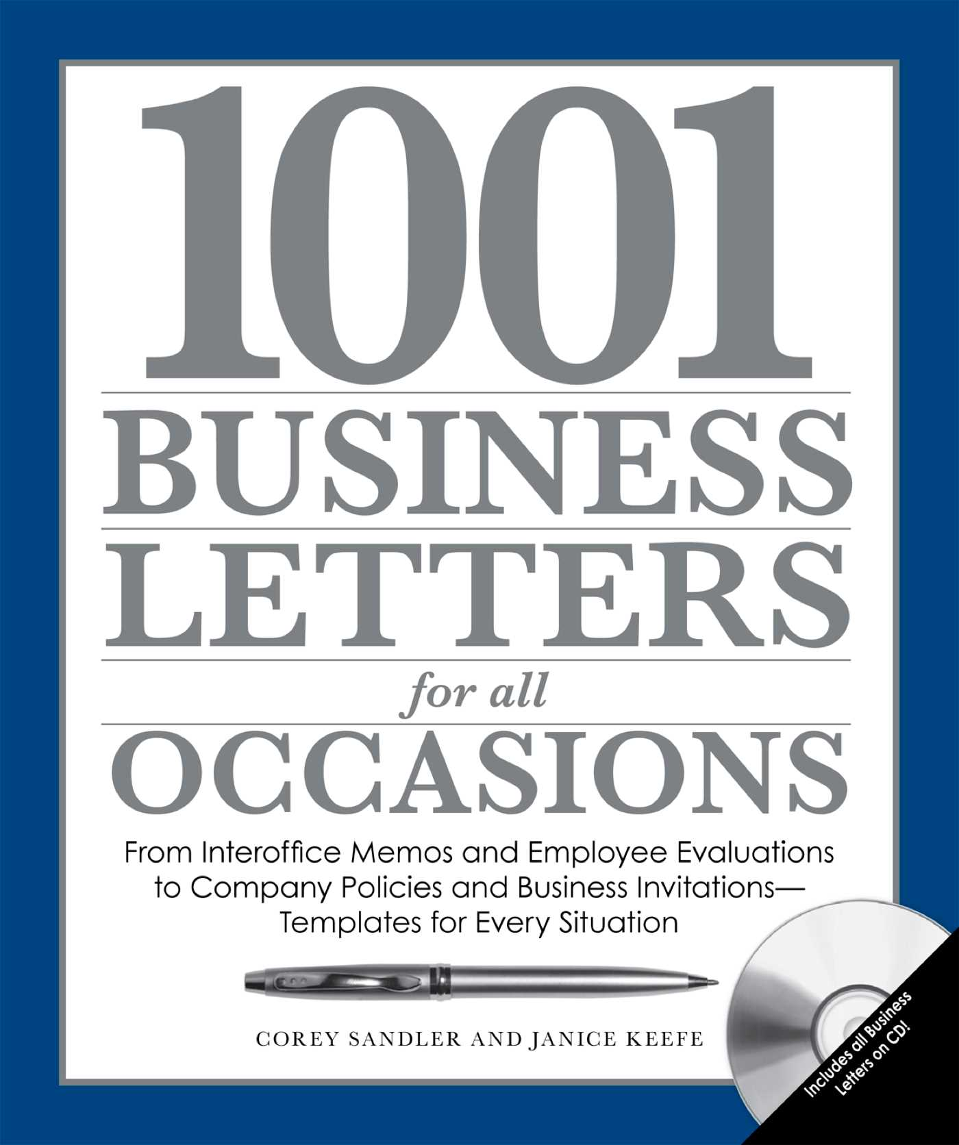 1001 business letters for all occasions 9781440514722 hr