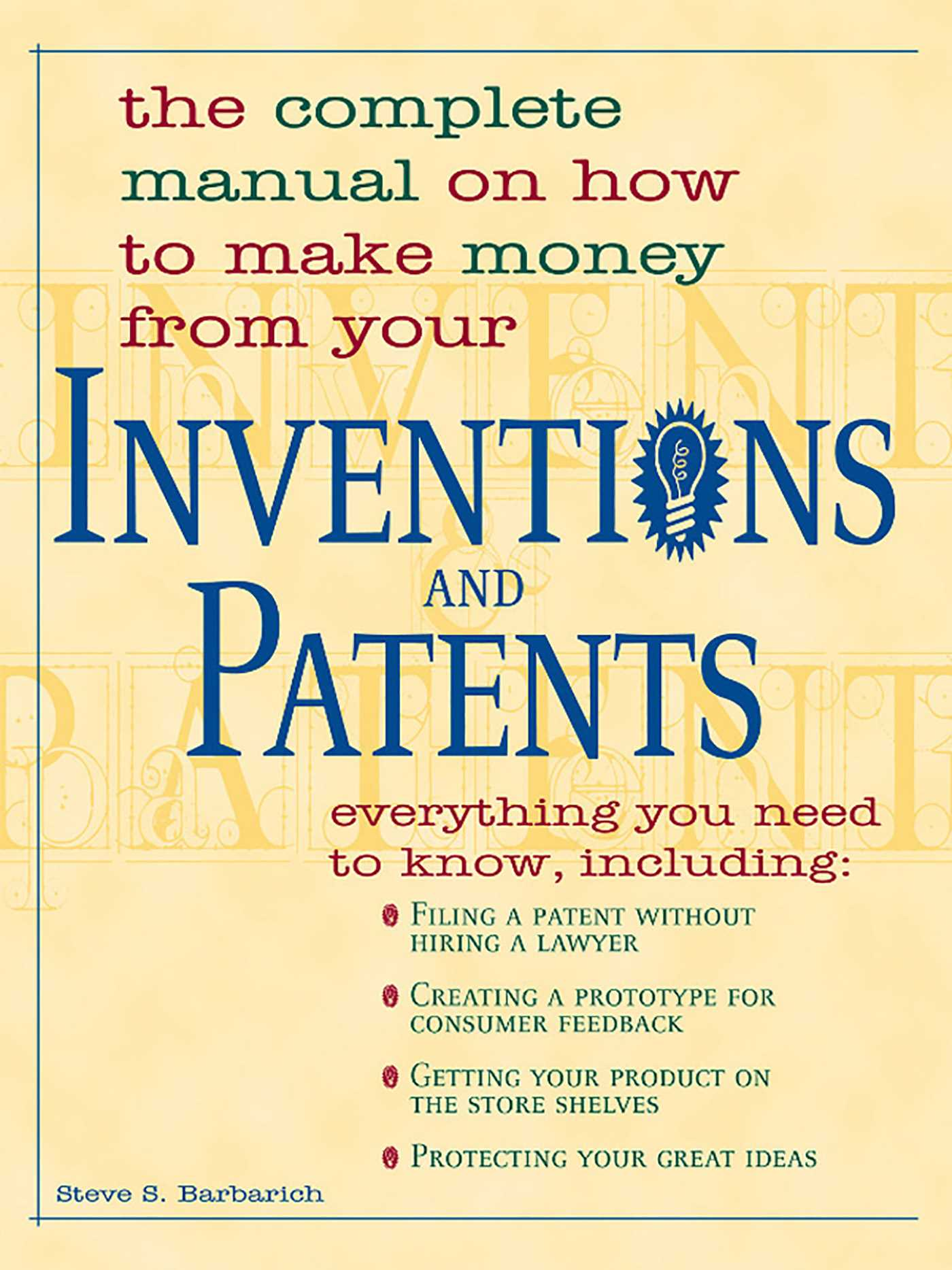 Inventions and patents 9781440519581 hr