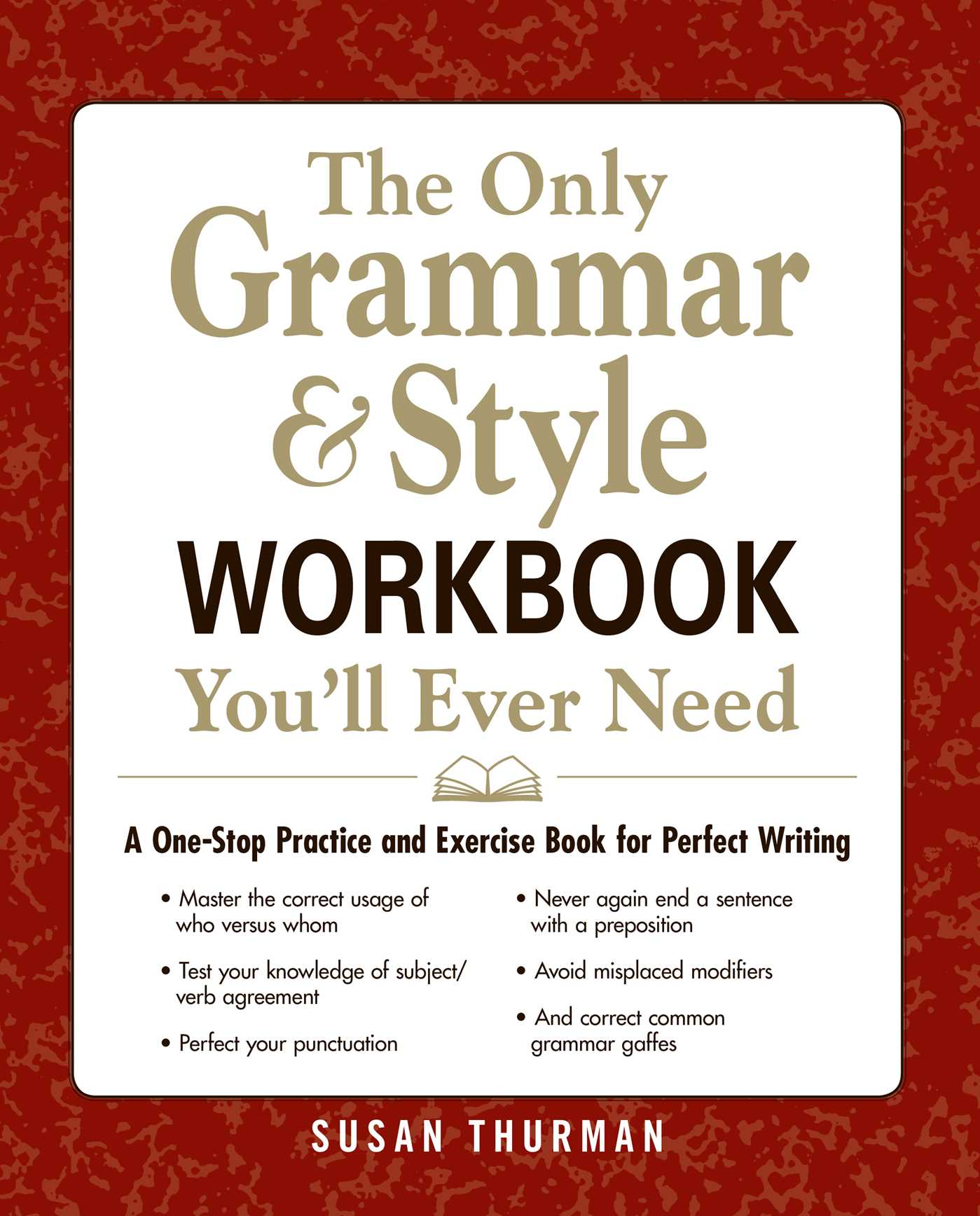 The only grammar style workbook youll ever need book by susan the only grammar style workbook youll ever need 9781440530067 hr stopboris Gallery