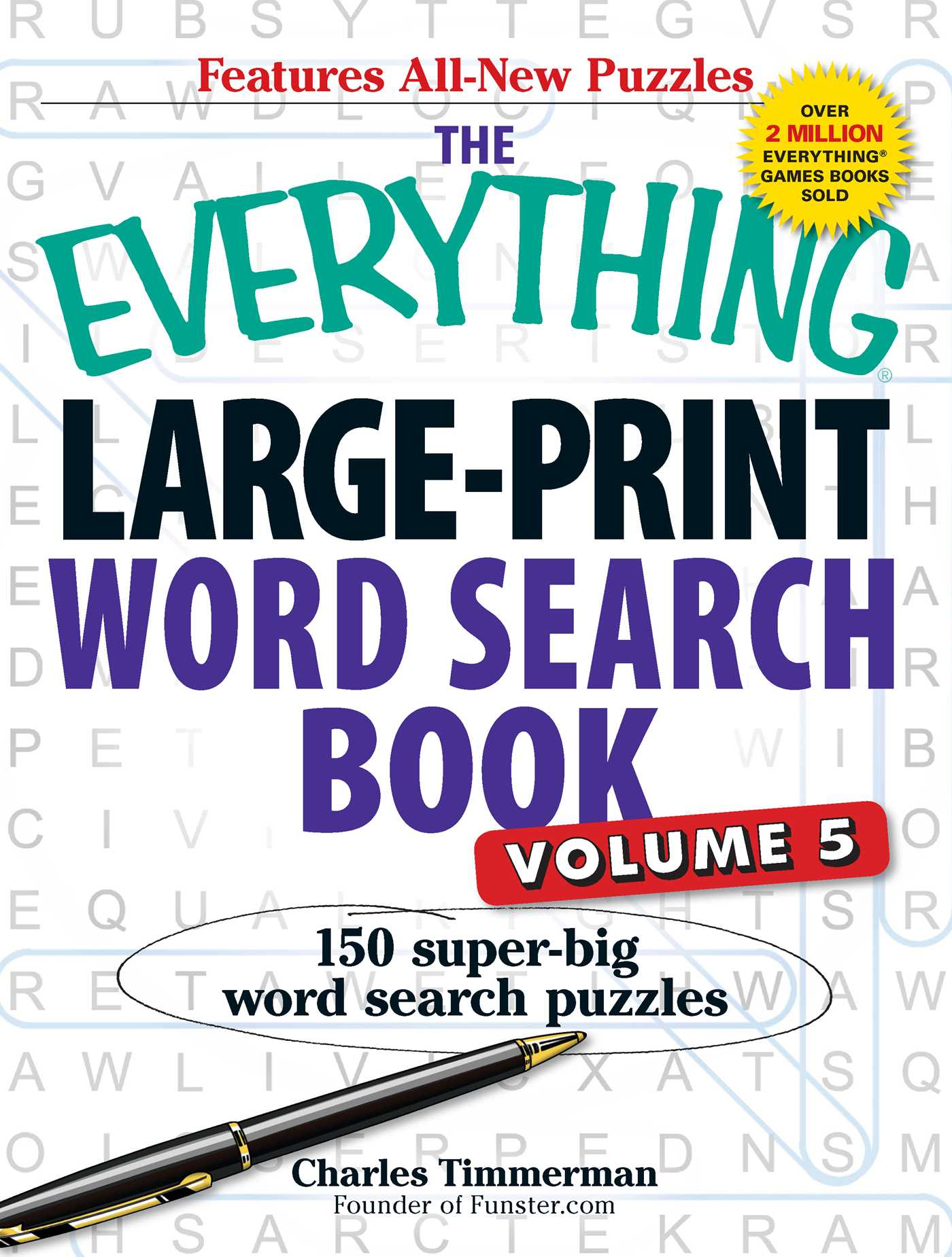The everything large print word search book volume v 9781440545641 hr
