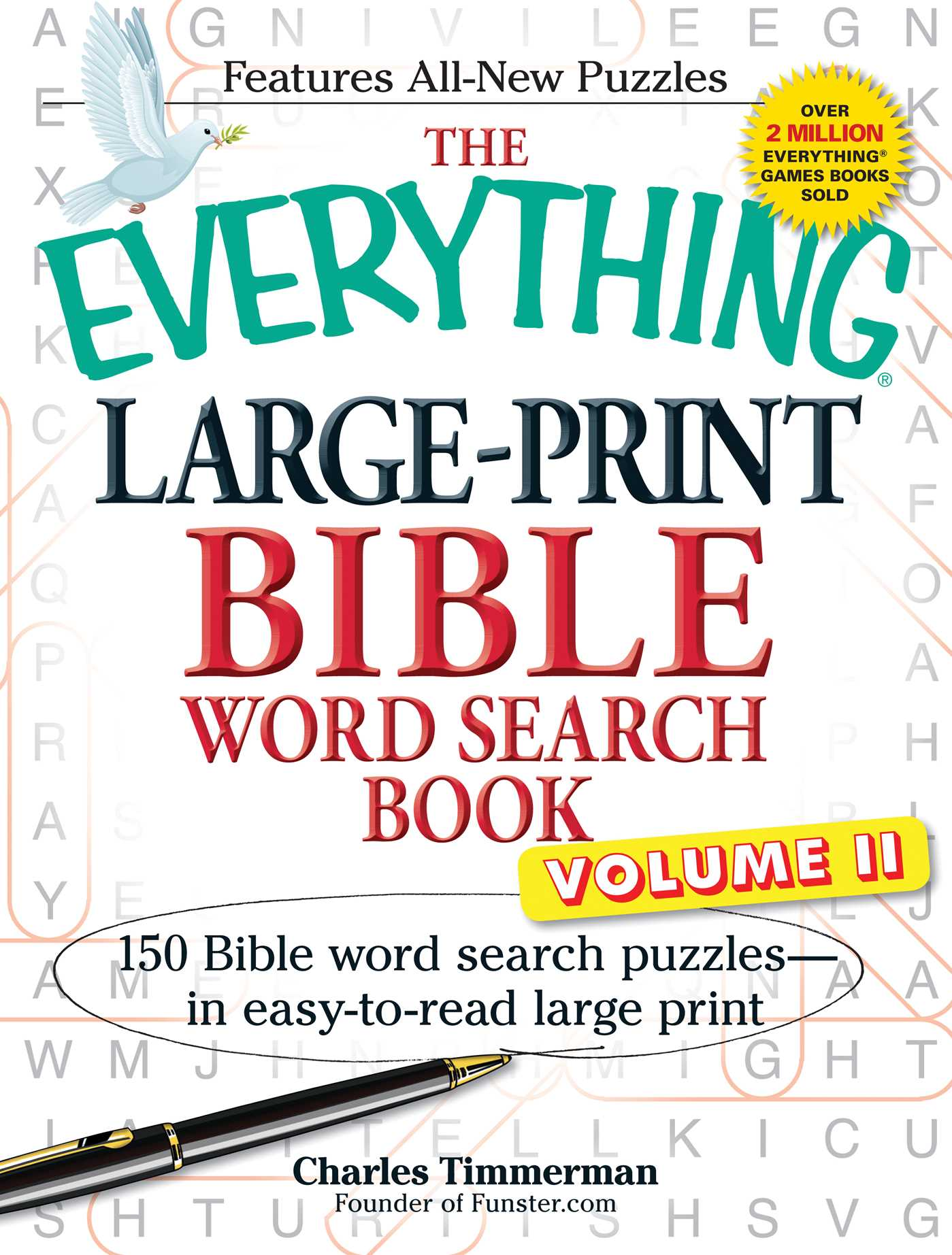 The everything large print bible word search book volume ii 9781440559303 hr