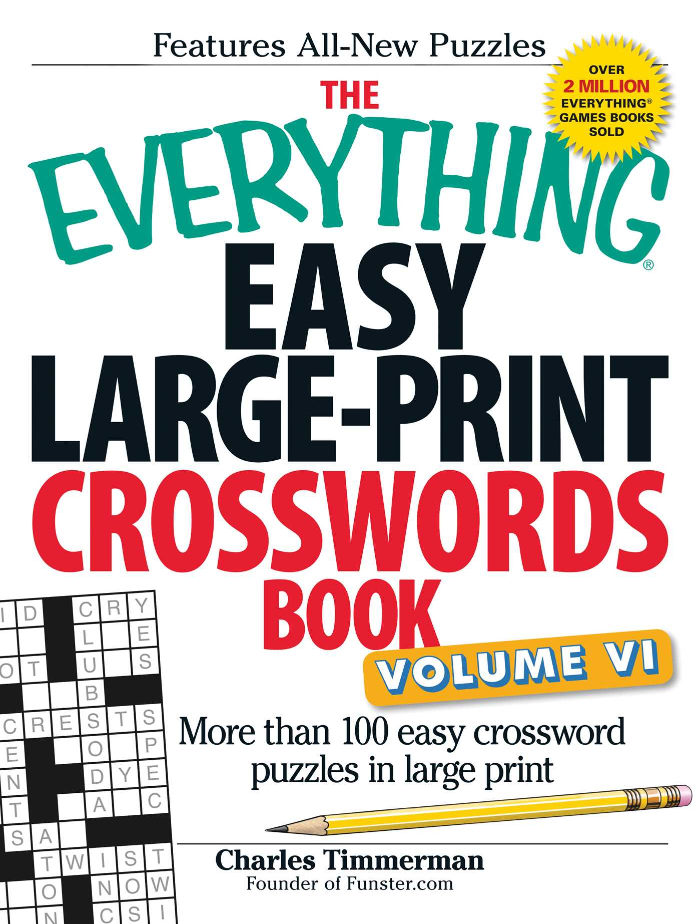 The everything easy large print crosswords book volume vi 9781440571572 hr