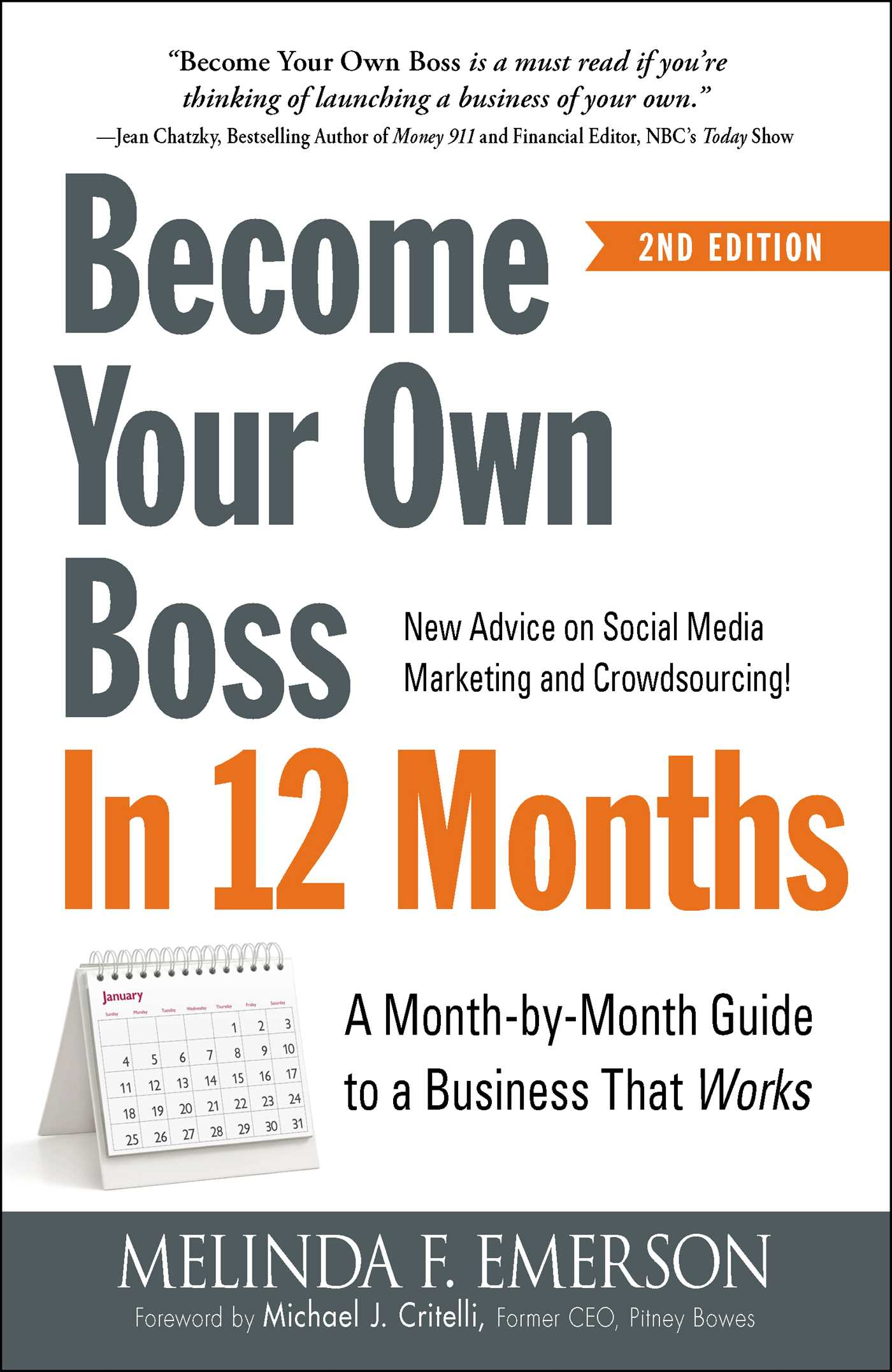 Book Cover Image (jpg): Become Your Own Boss in 12 Months