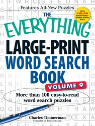 The Everything Large-Print Word Search Book, Volume 9
