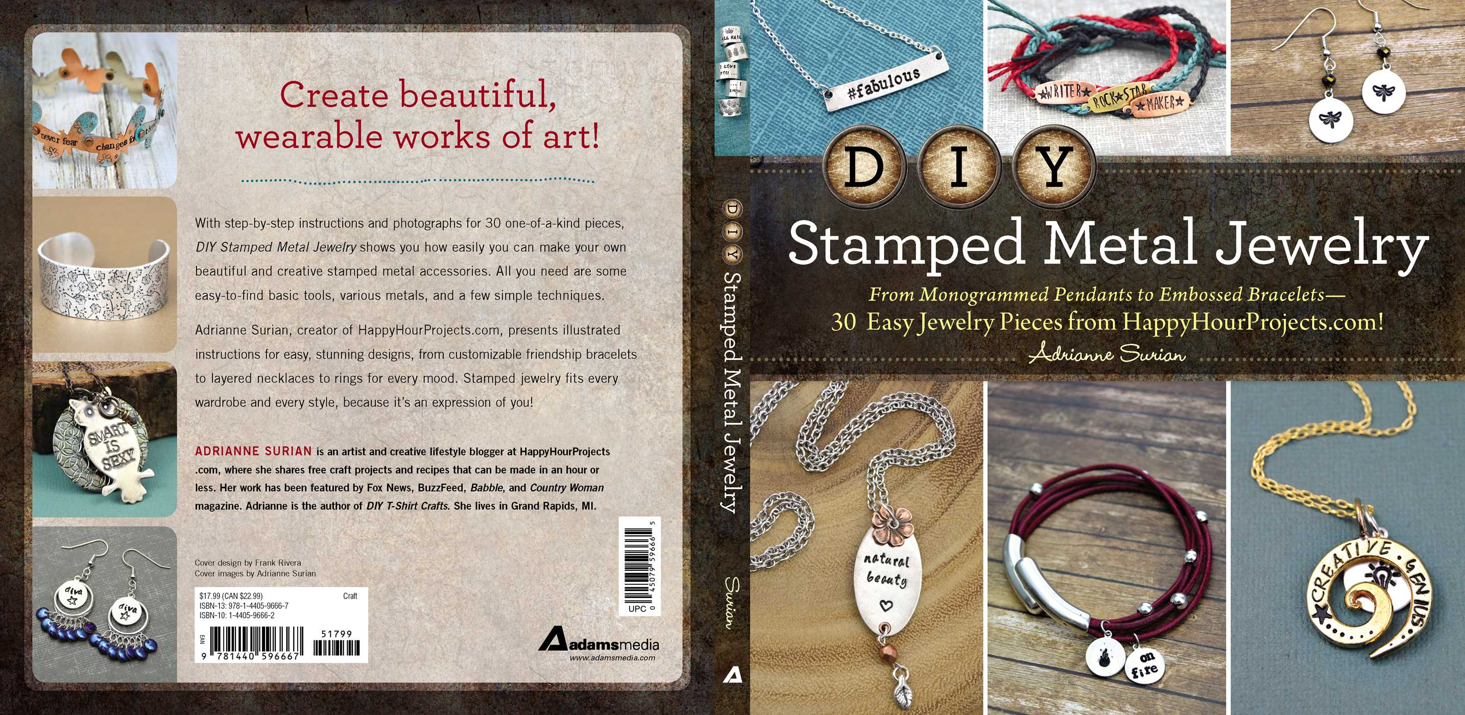 Diy Stamped Metal Jewelry Book By Adrianne Surian Official