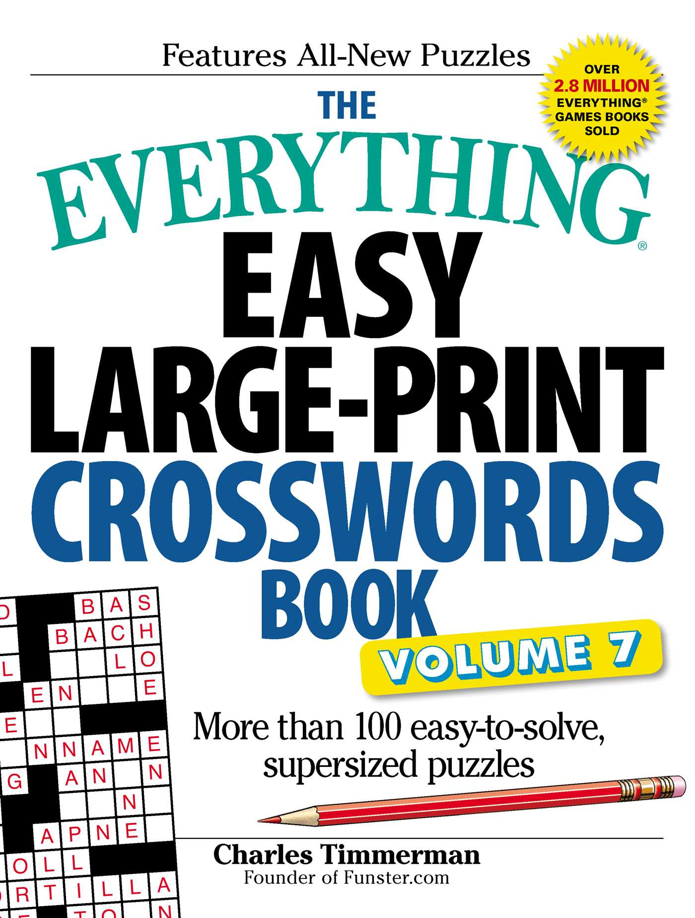The everything easy large print crosswords book volume 7 9781440597794 hr