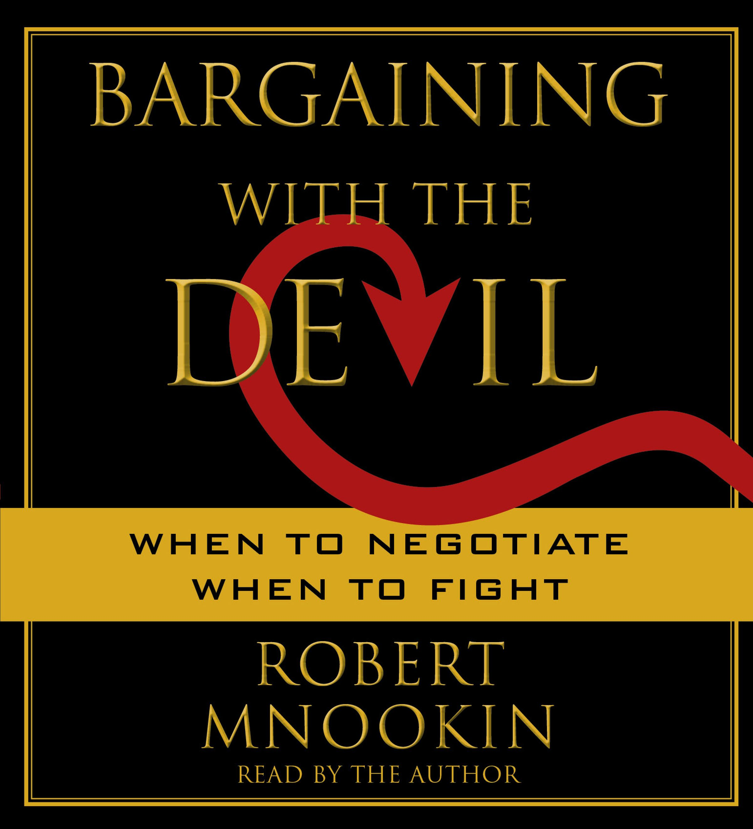 Bargaining with the devil 9781442304178 hr