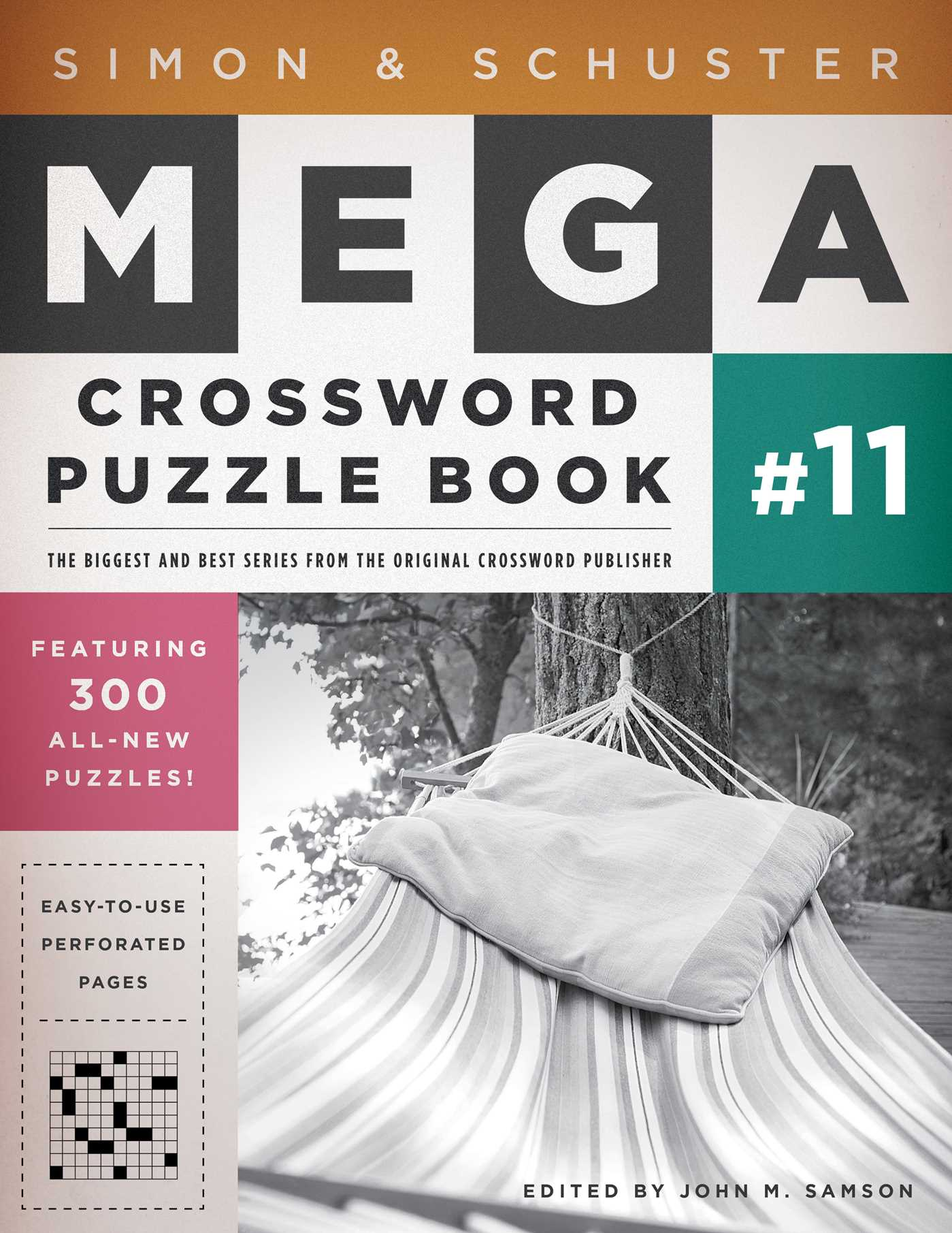 Simon schuster mega crossword puzzle book 11 9781451627398 hr