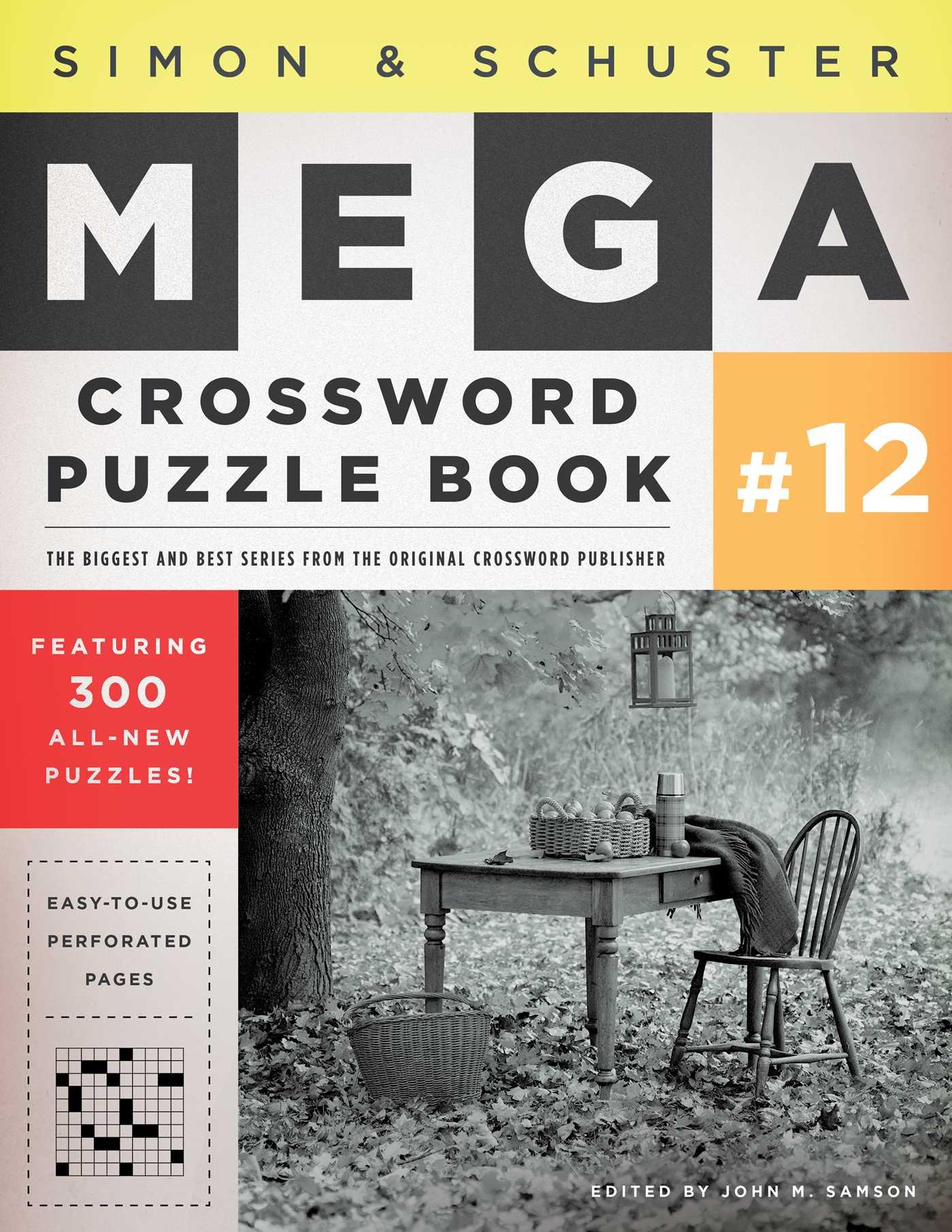 Simon schuster mega crossword puzzle book 12 9781451627404 hr