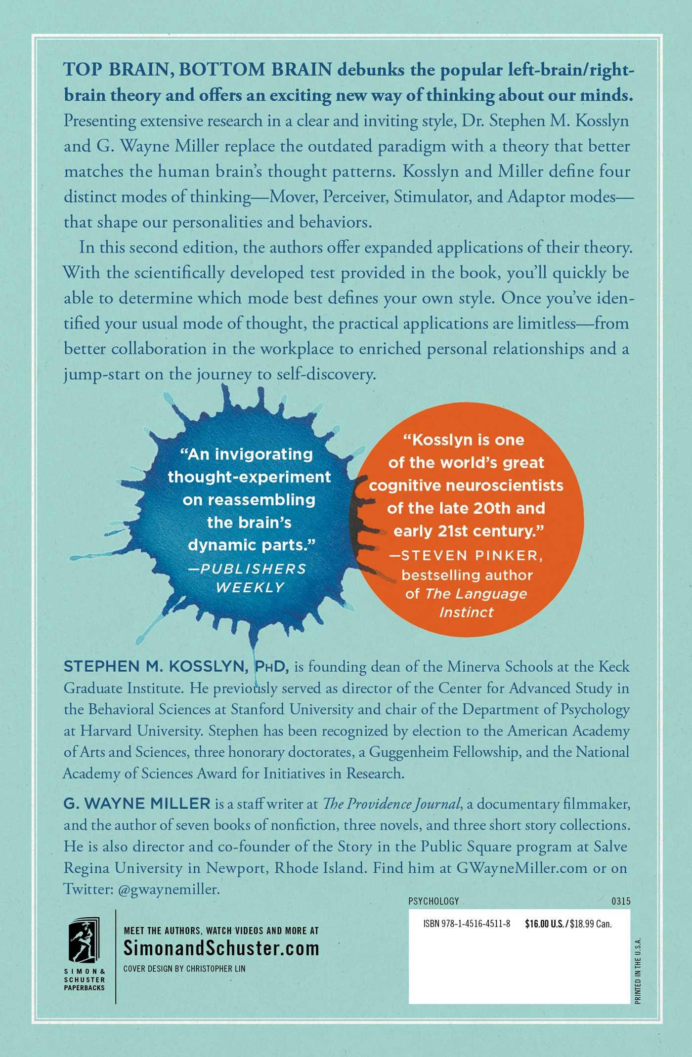 Top Brain, Bottom Brain | Book by Stephen Kosslyn, G ...