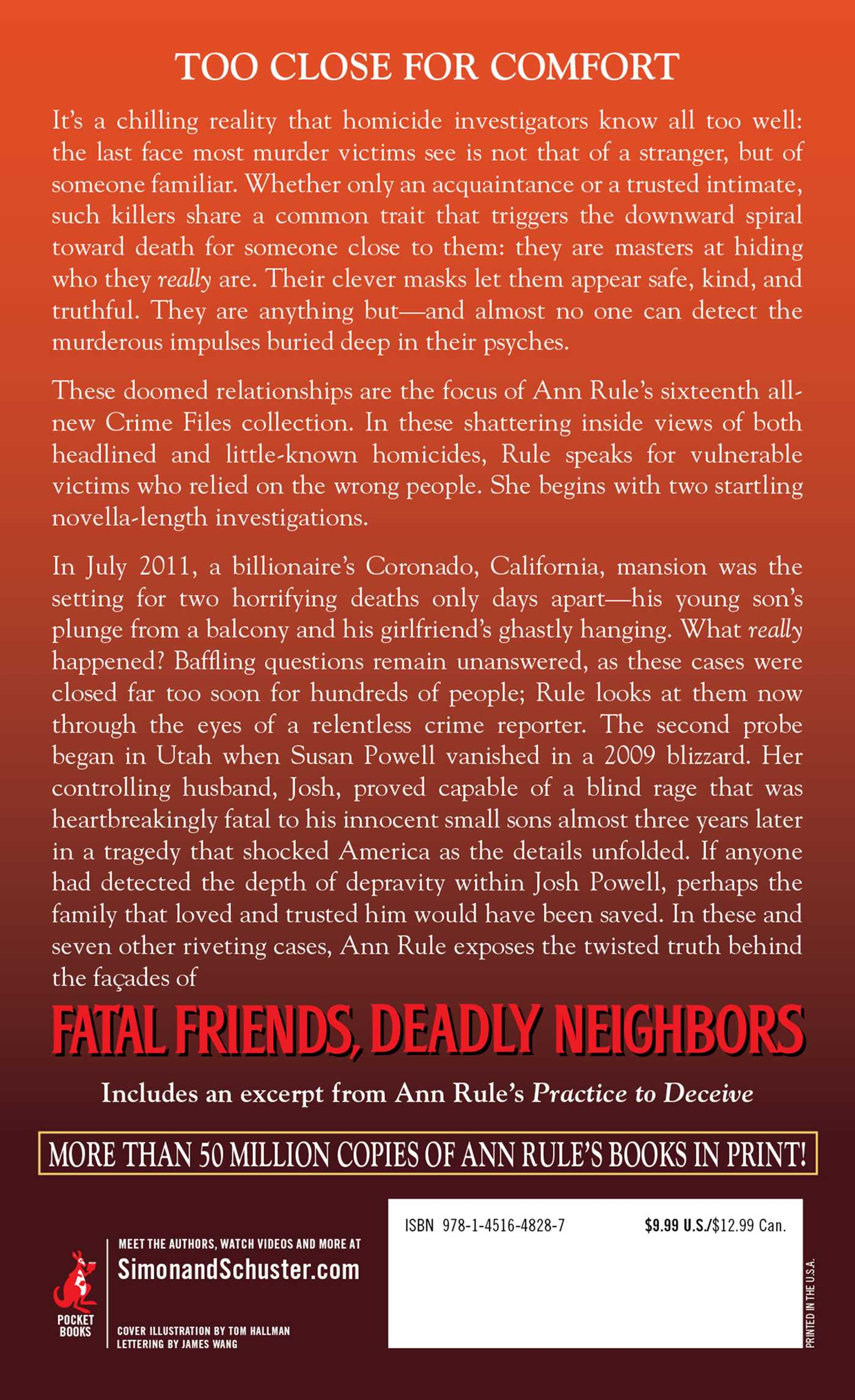Fatal friends deadly neighbors 9781451648287 hr back