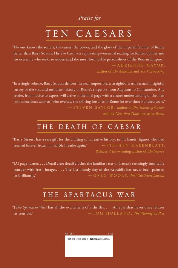 Ten Caesars | Book by Barry Strauss | Official Publisher