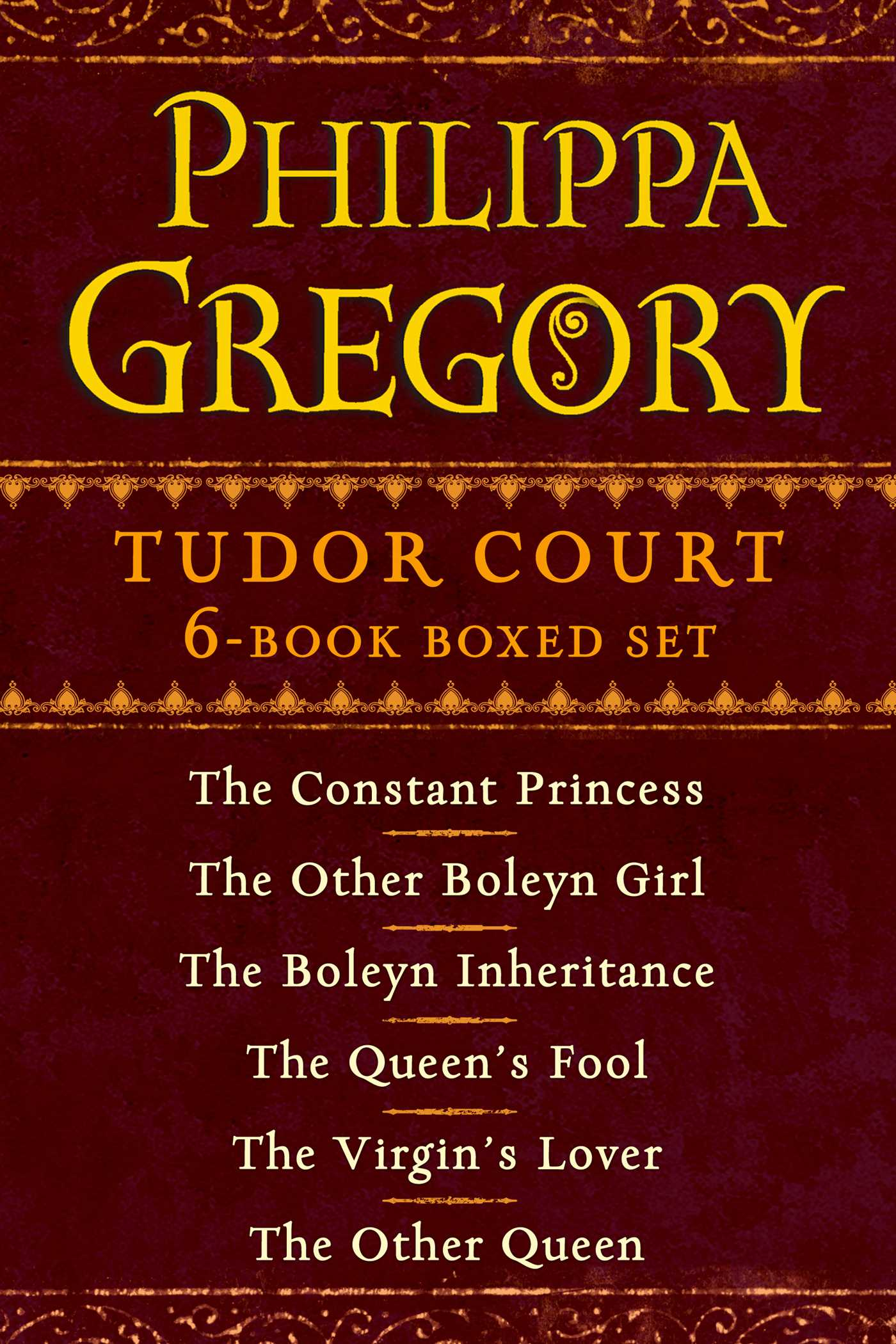 Philippa gregorys tudor court 6 book boxed set 9781451682960 hr