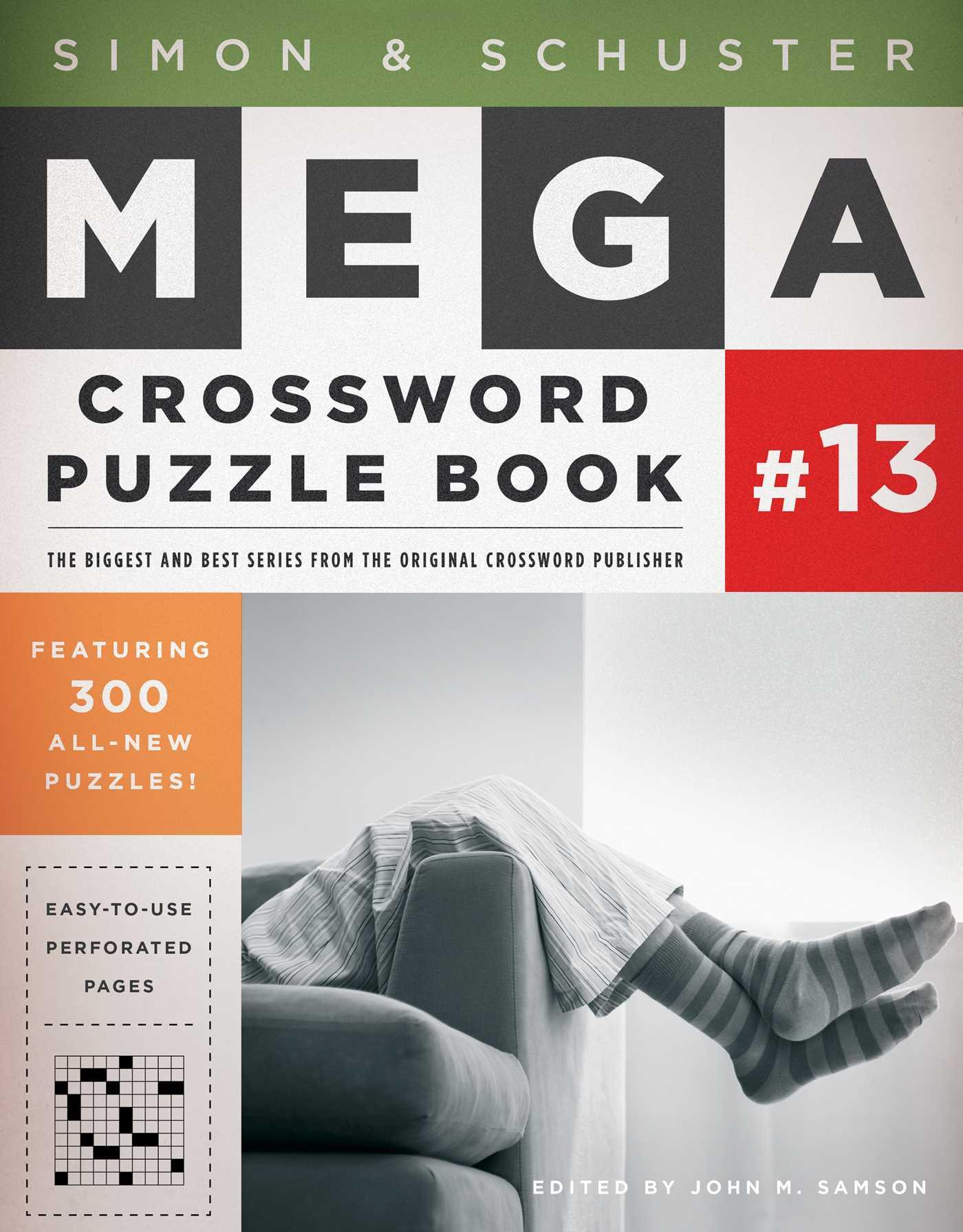 Simon schuster mega crossword puzzle book 13 9781451688016 hr