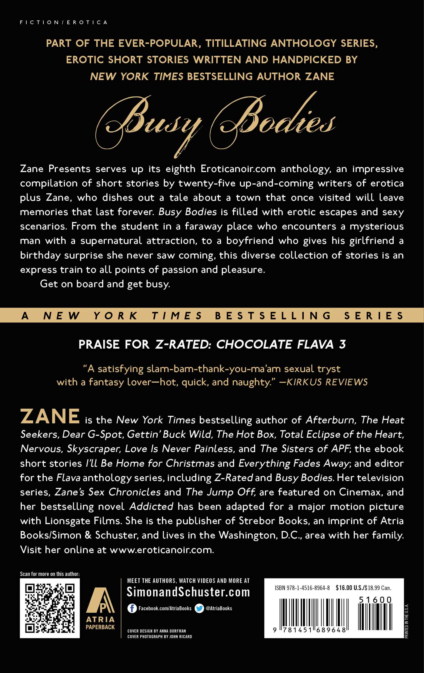 Zanes busy bodies chocolate flava 4 9781451689648 hr back