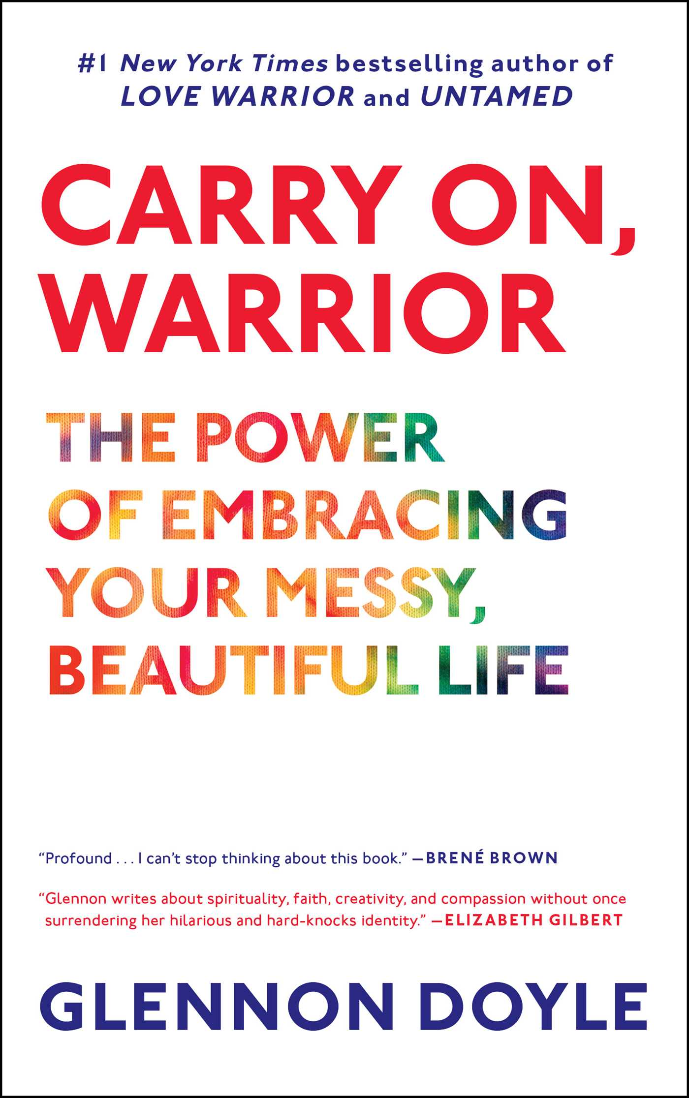 Carry on warrior 9781451698220 hr