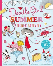 Doodle Girl Summer Sticker Activity