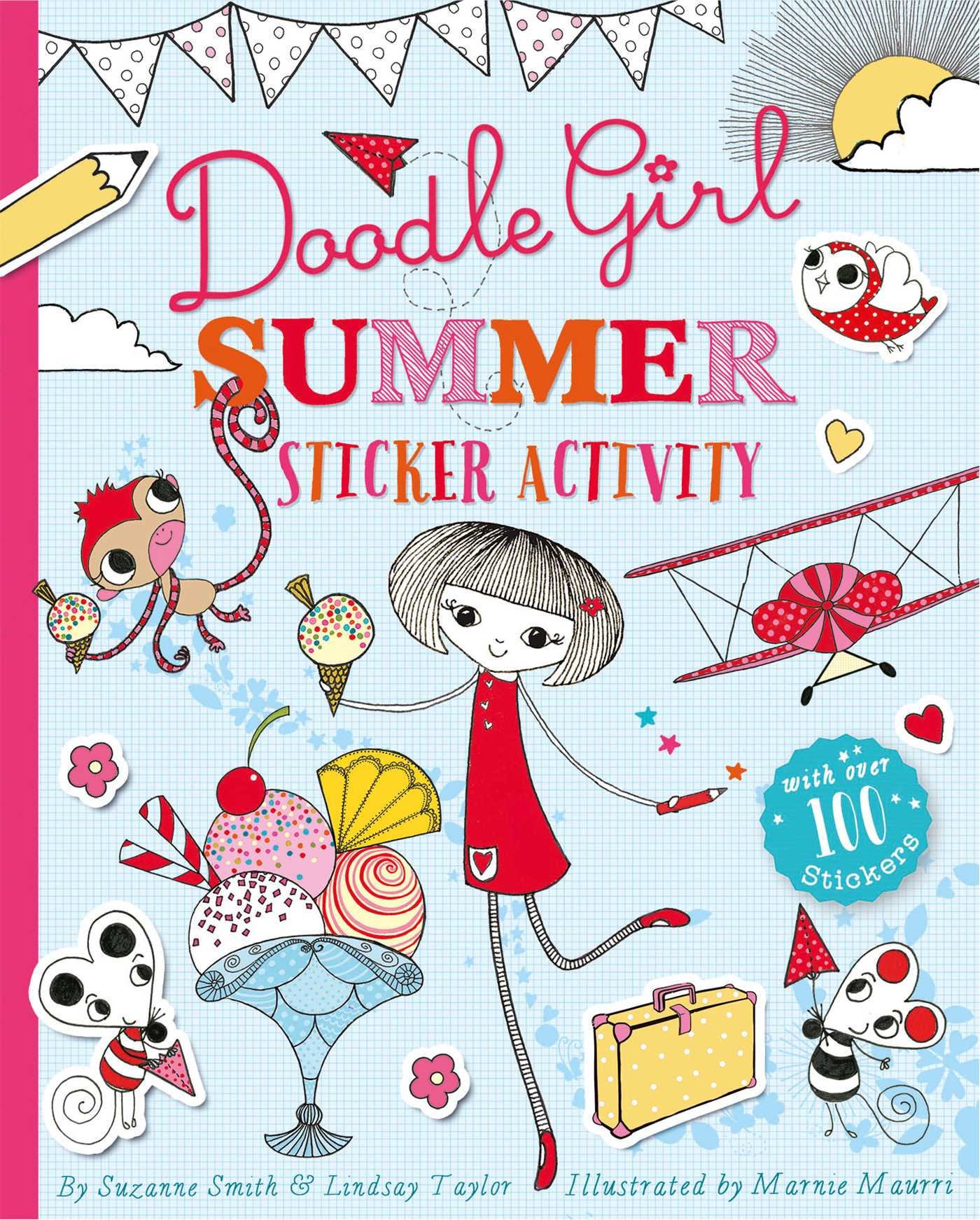 Doodle Girl Sticker Colouring Book 1 9781471123207 Hr