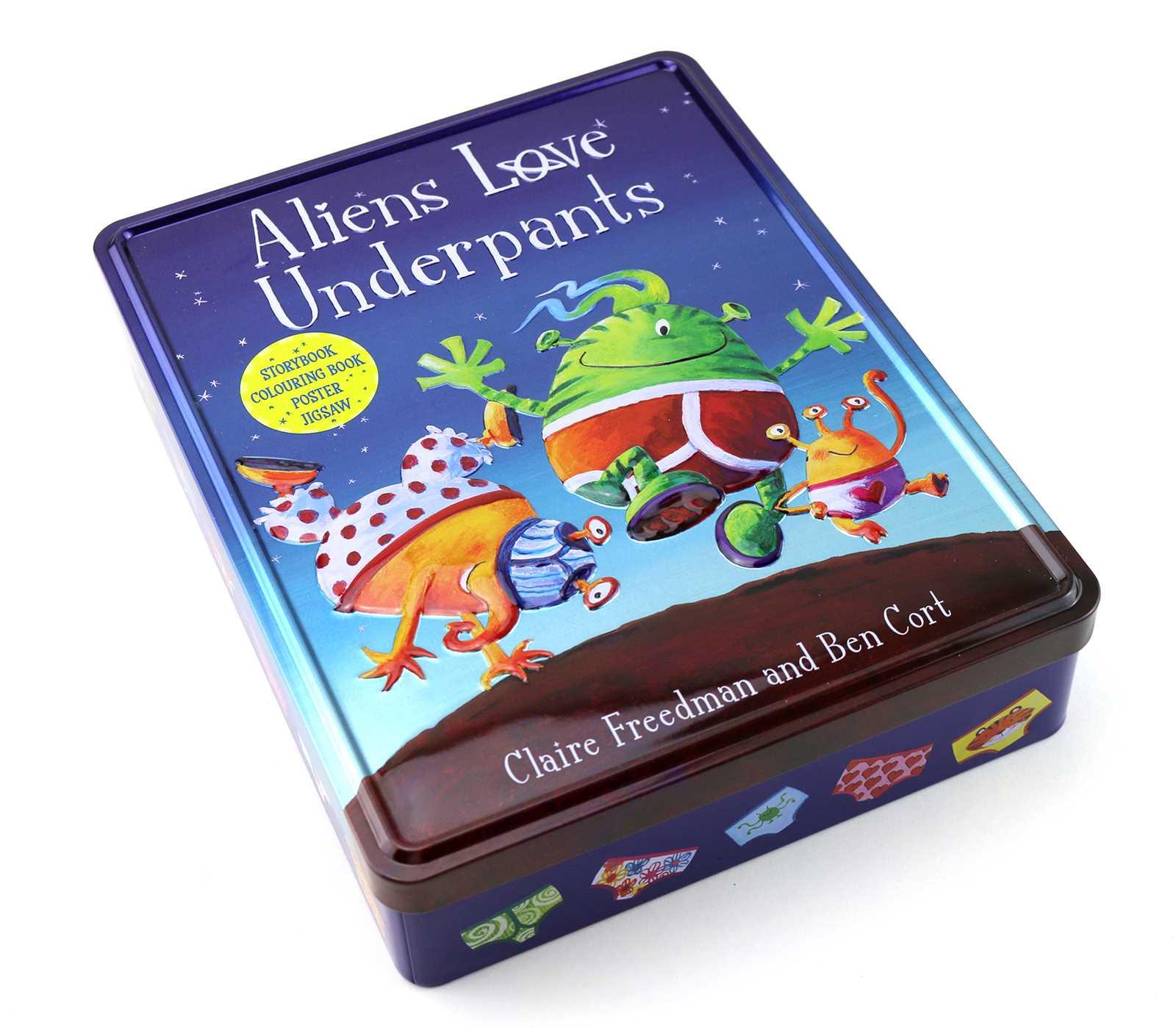 Aliens love underpants anniversary tin 9781471167997 hr