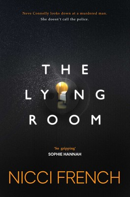 the front cover of nicci french's book the lying room