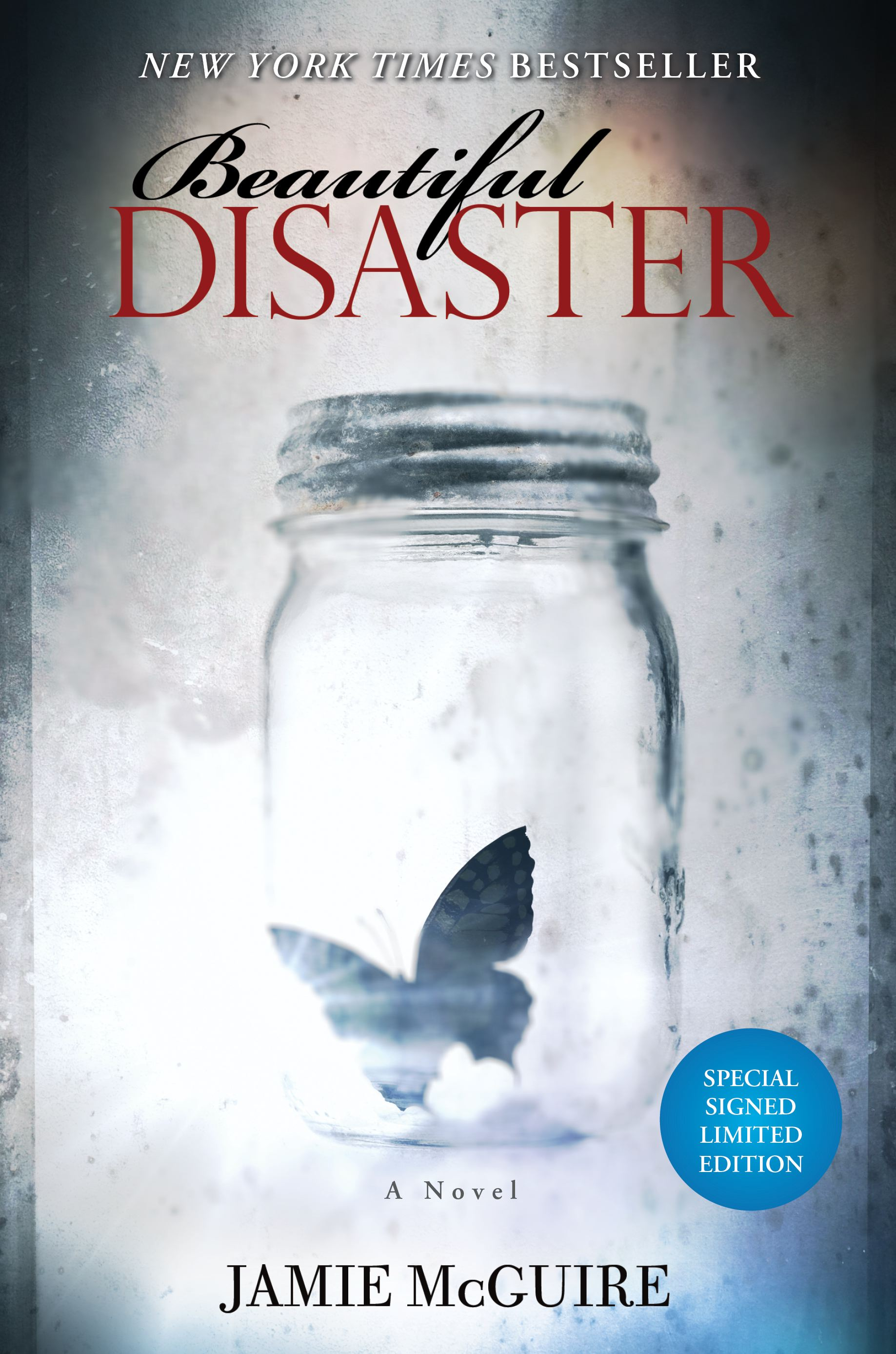 Beautiful disaster signed limited edition 9781476719078 hr