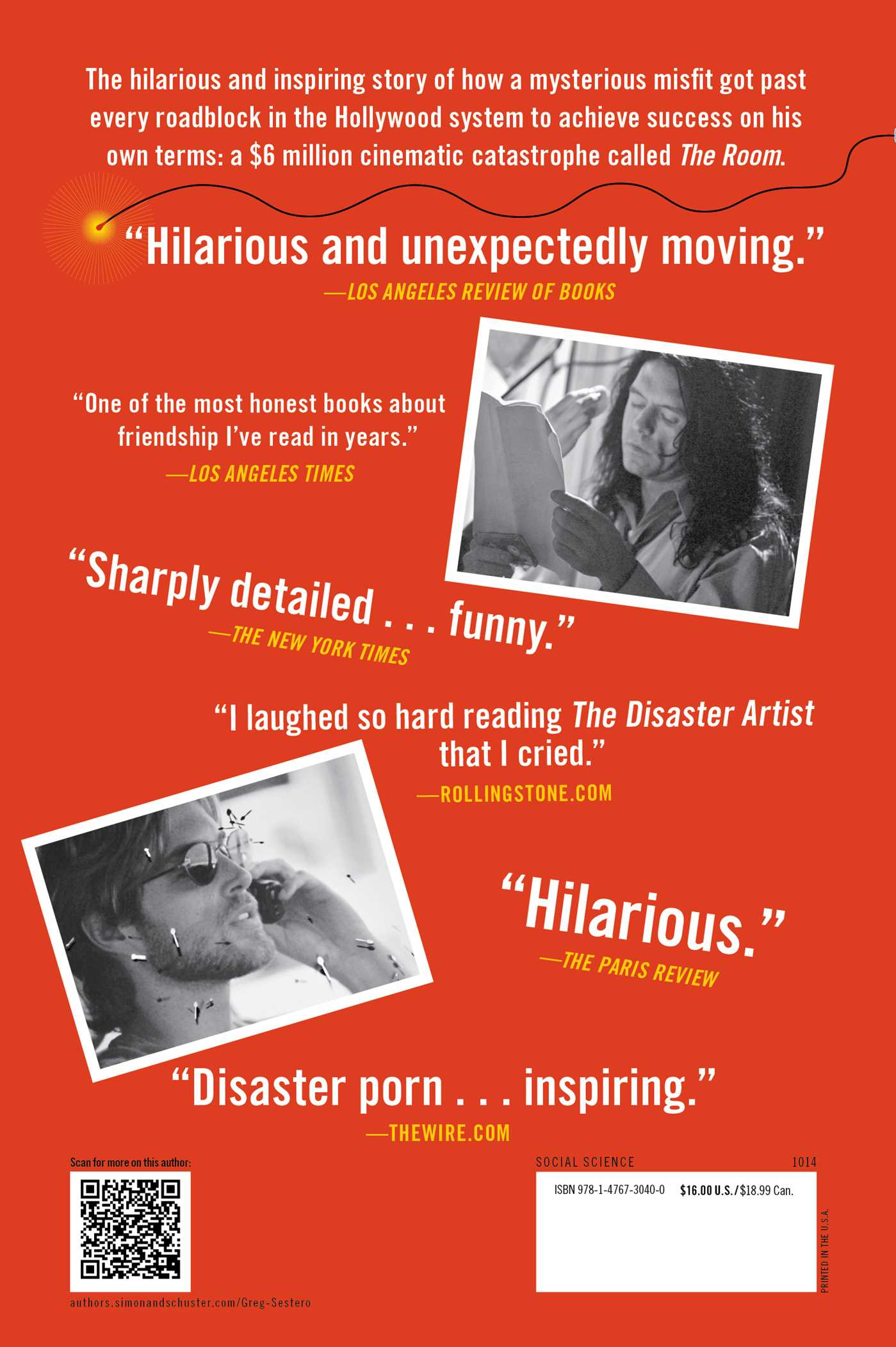 Disaster artist 9781476730400 hr back