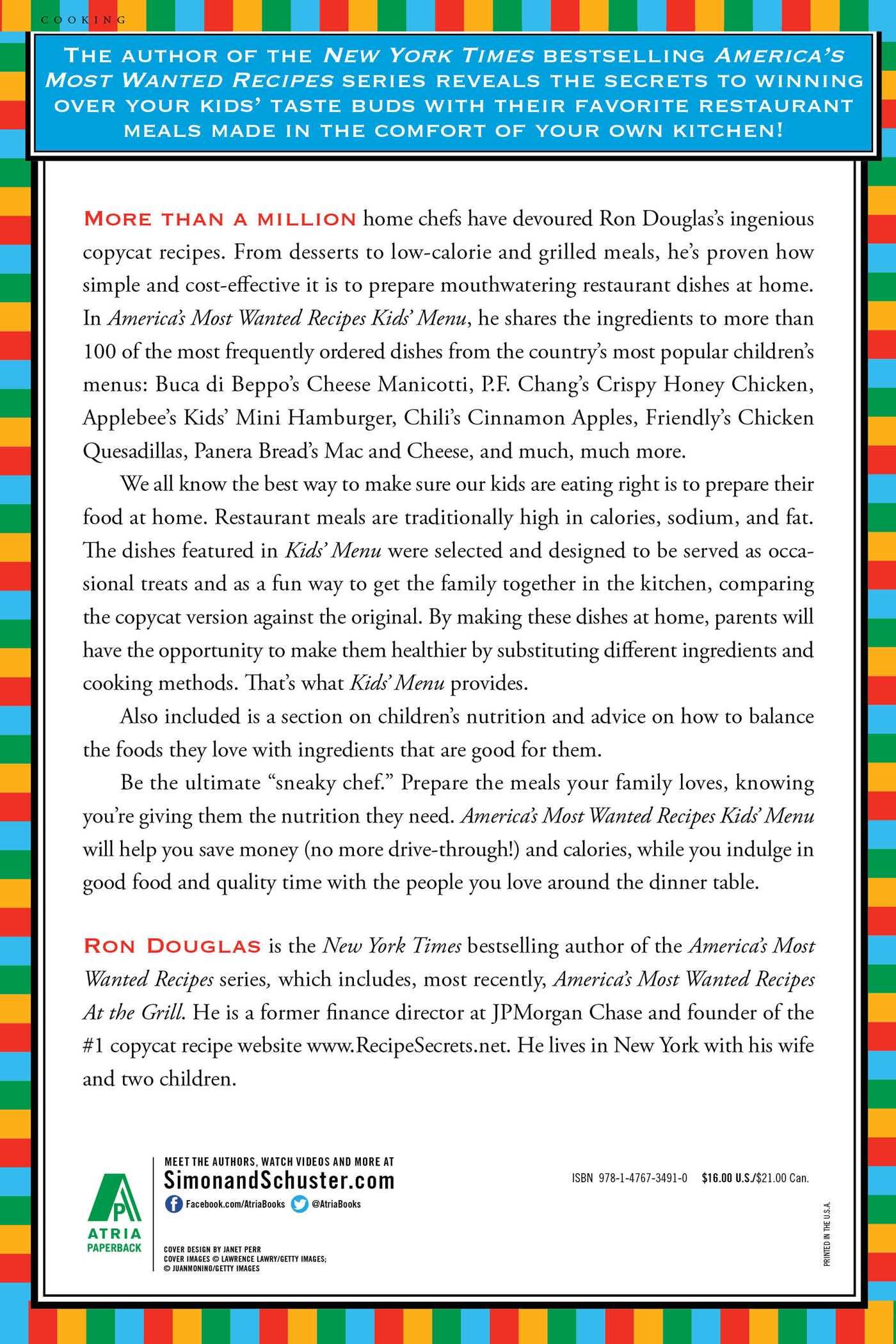 Americas most wanted recipes kids menu 9781476734910 hr back