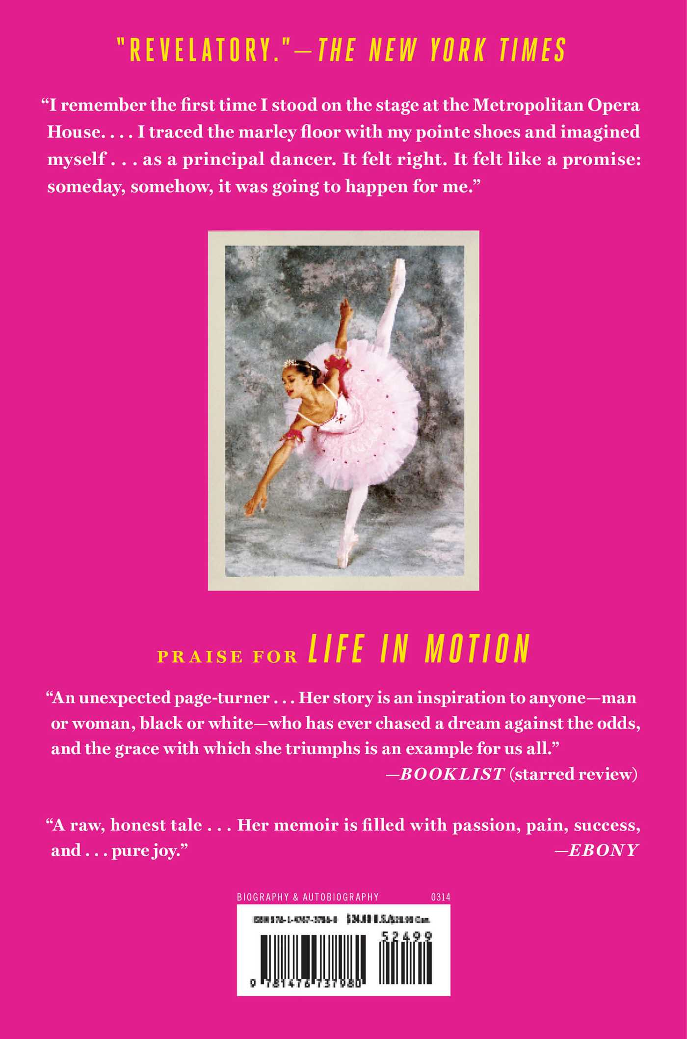 Life in motion 9781476737980 hr back