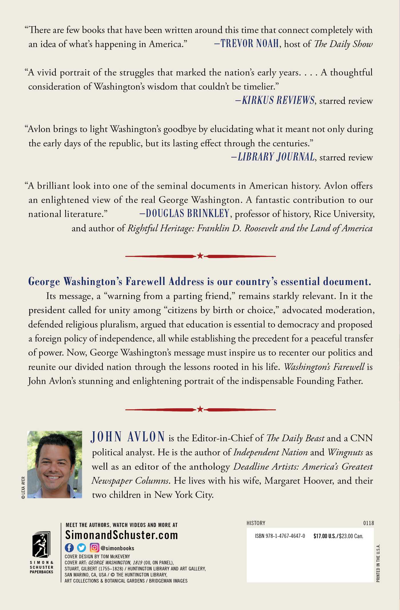 Washingtons farewell book by john avlon official publisher page washingtons farewell 9781476746470 hr washingtons farewell 9781476746470 hr back fandeluxe Choice Image