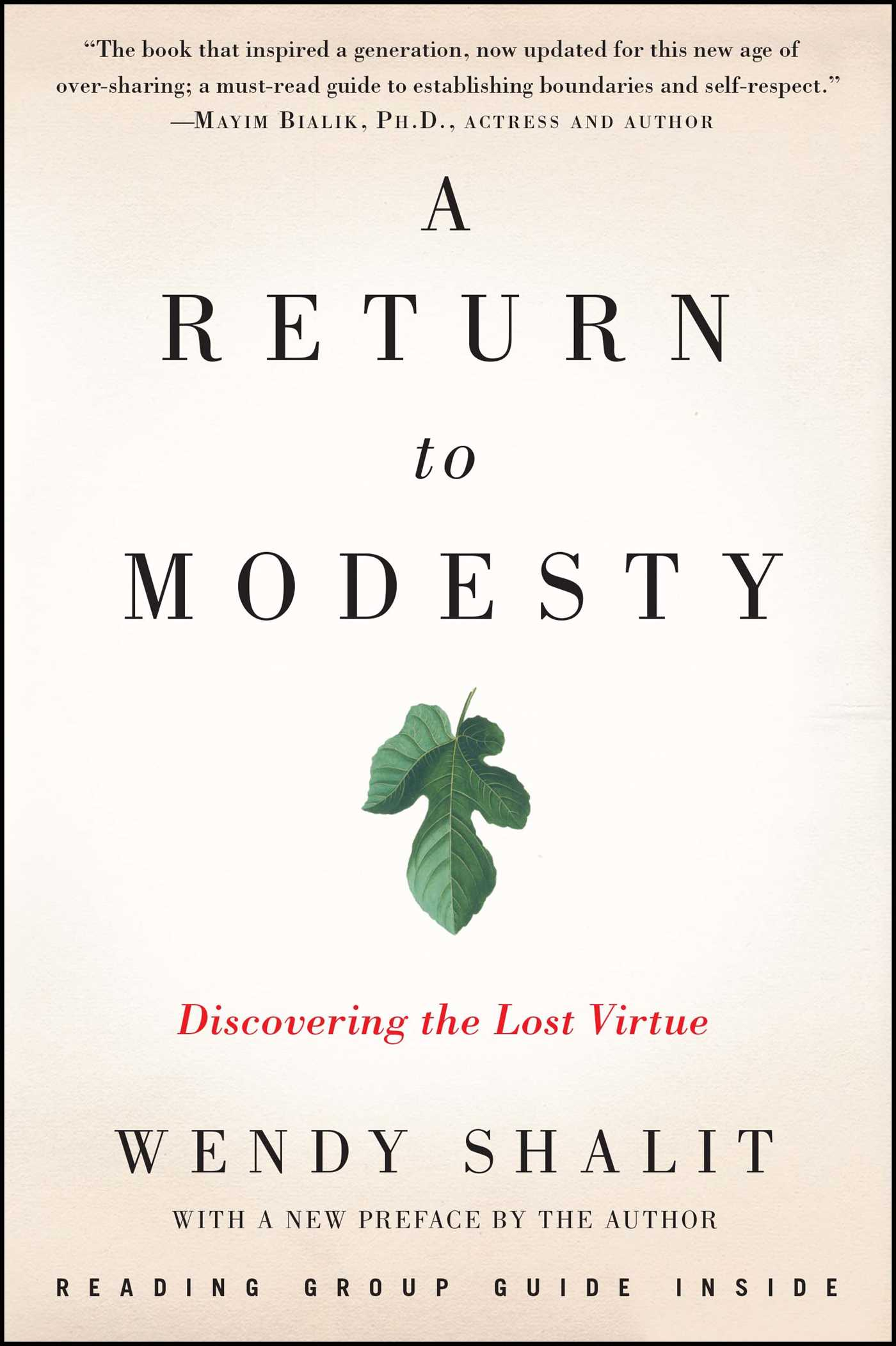 A Return To Modesty Book By Wendy Shalit Official Publisher Page