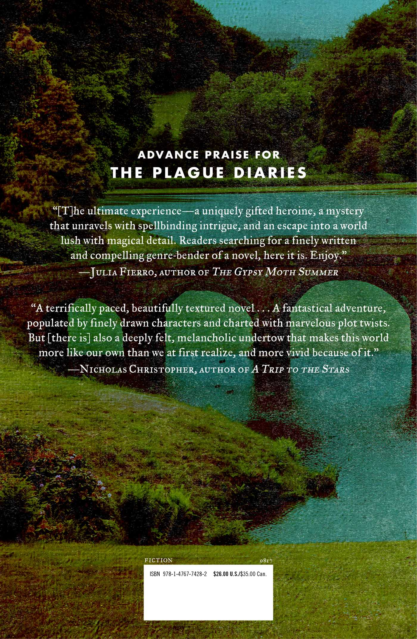 The plague diaries 9781476774282 hr back
