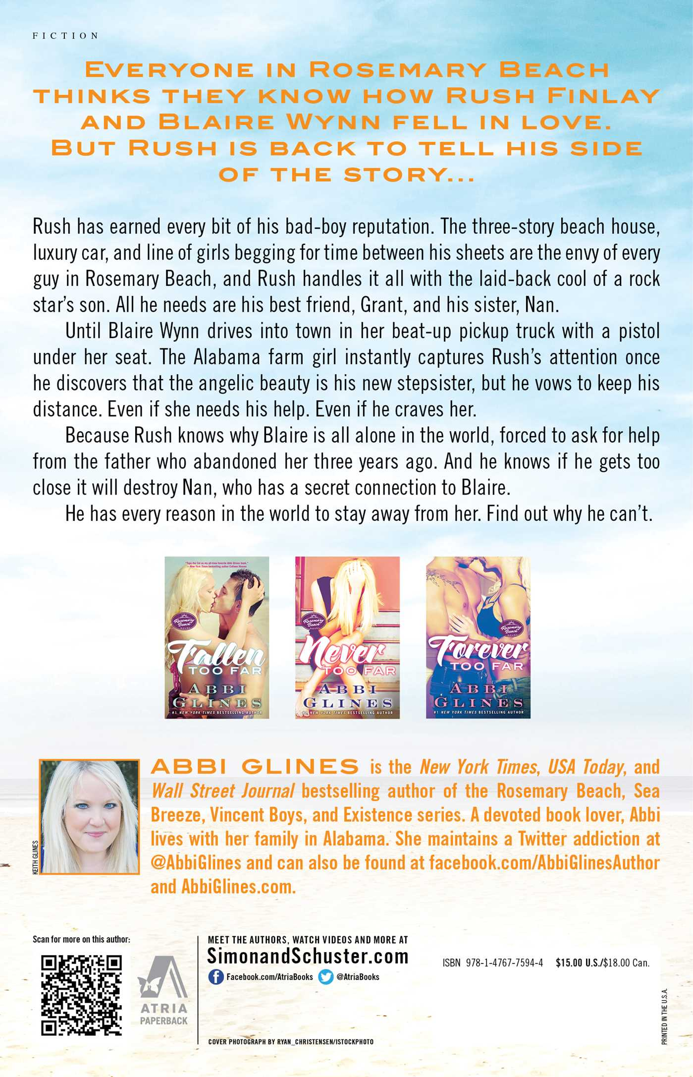 Rush too far book by abbi glines official publisher page simon rush too far 9781476775944 hr back fandeluxe Choice Image