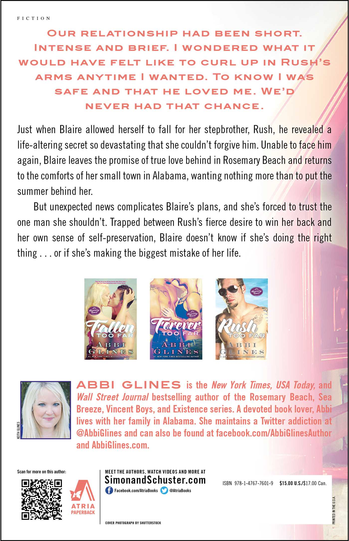 Never too far book by abbi glines official publisher page never too far 9781476776019 hr back fandeluxe Choice Image