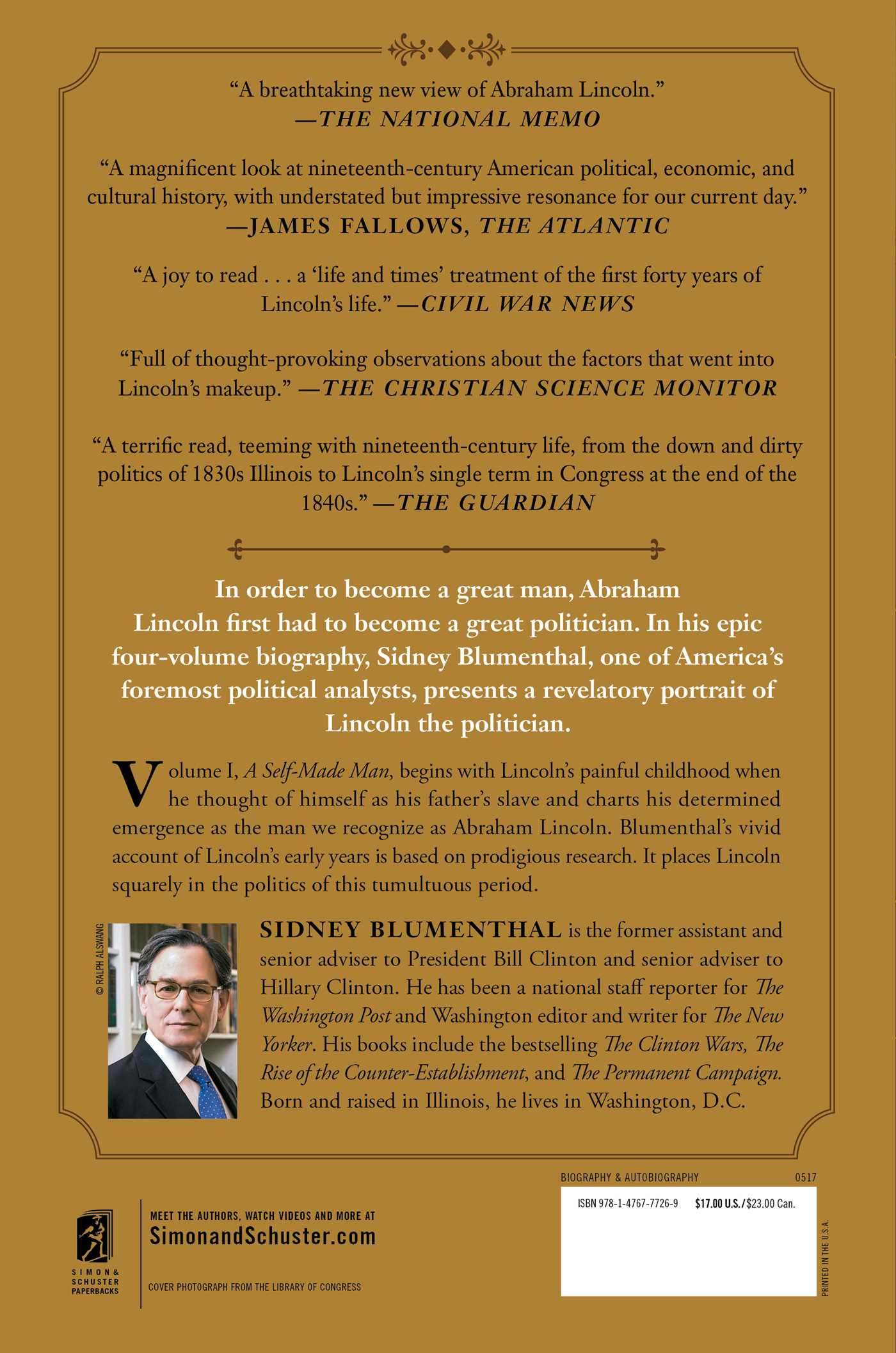 A Self-Made Man | Book by Sidney Blumenthal | Official Publisher ...