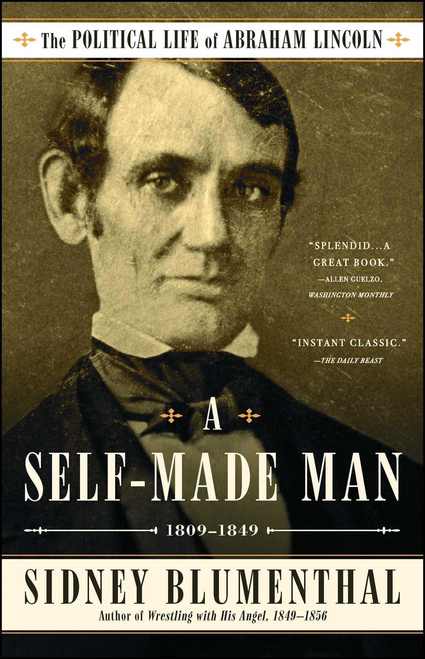 man official blumenthal the sidney hr books a book made publisher abraham life of political lincoln self by