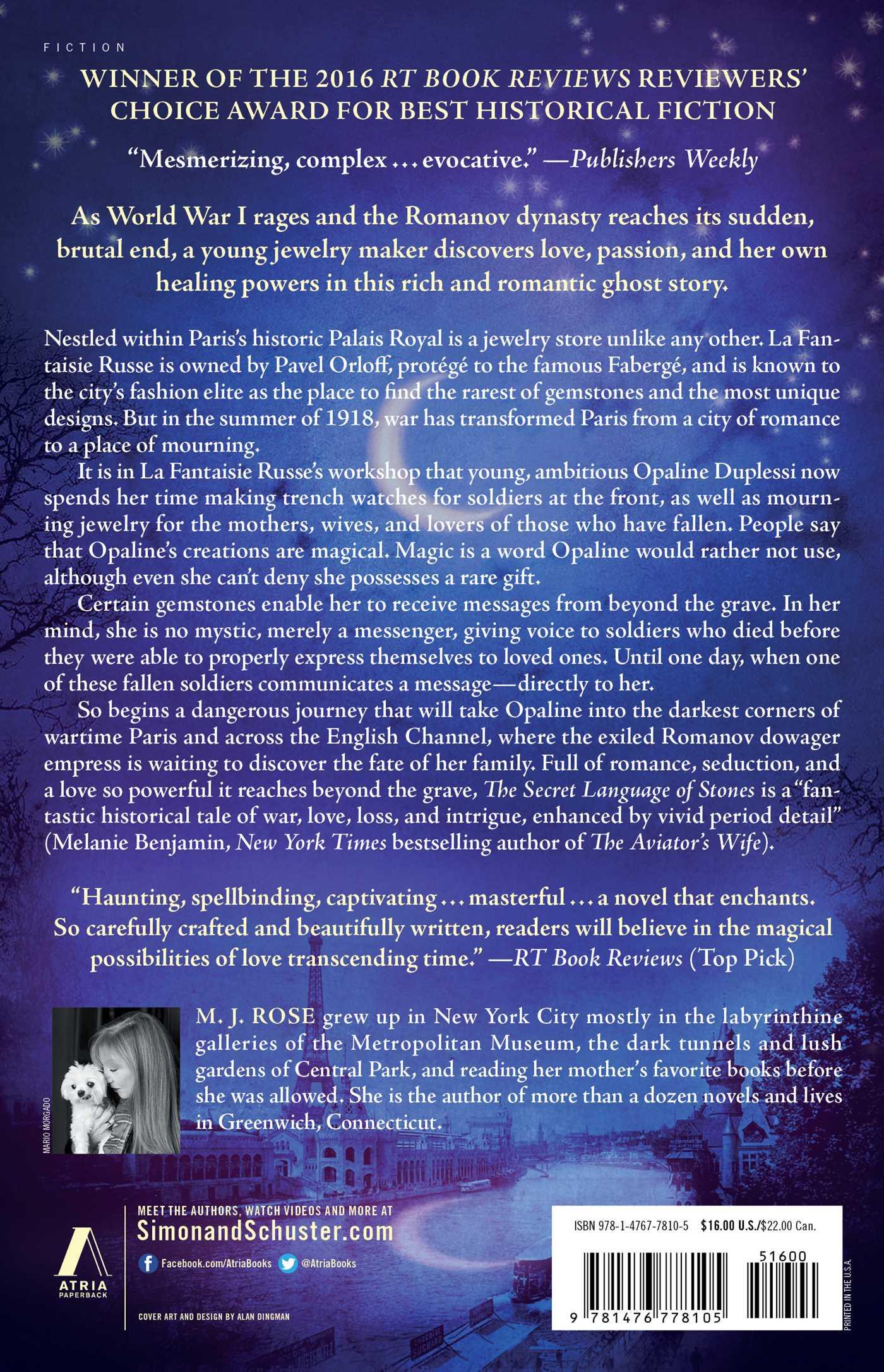 The Secret Language of Stones | Book by M  J  Rose