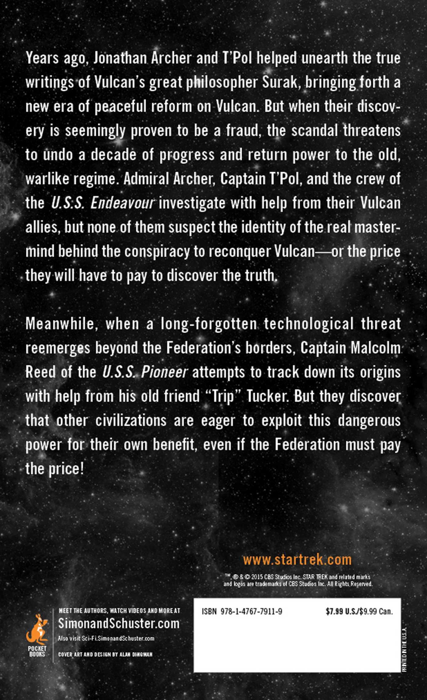 Star trek enterprise rise of the federation 9781476779119 hr back
