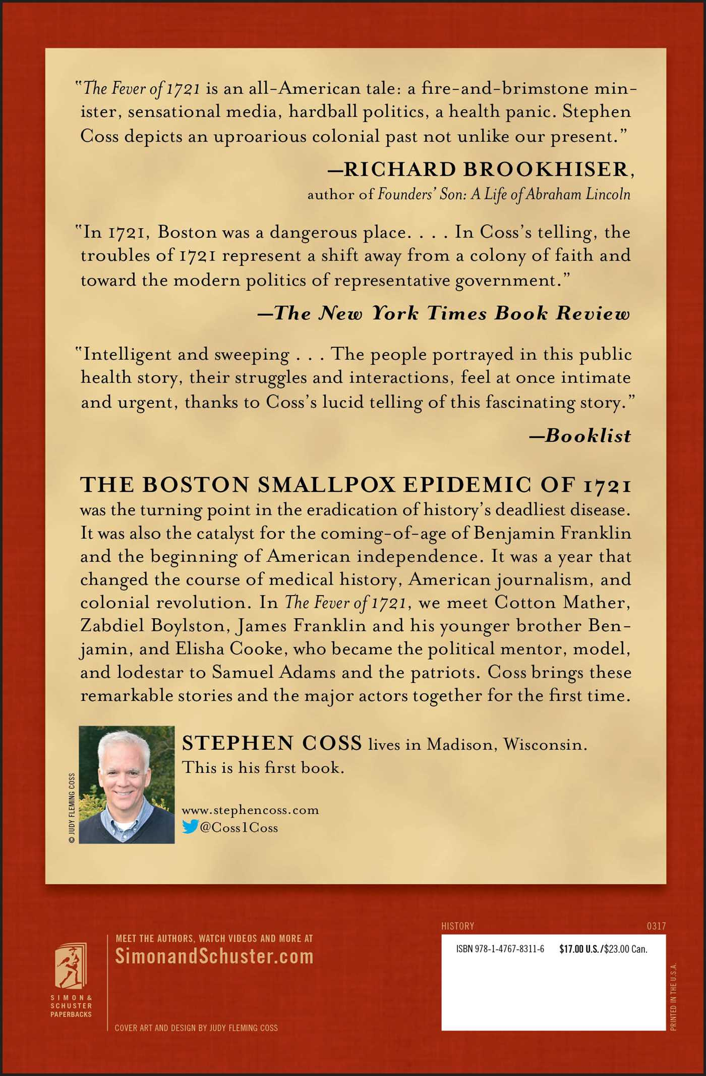 The fever of 1721 book by stephen coss official publisher page the fever of 1721 9781476783116 hr back fandeluxe Image collections