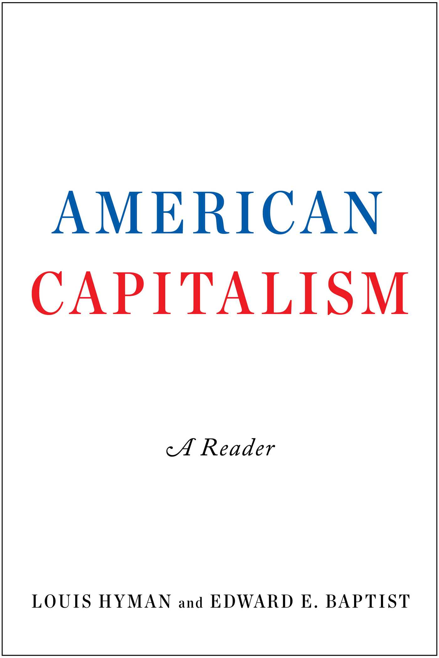 American capitalism 9781476784311 hr