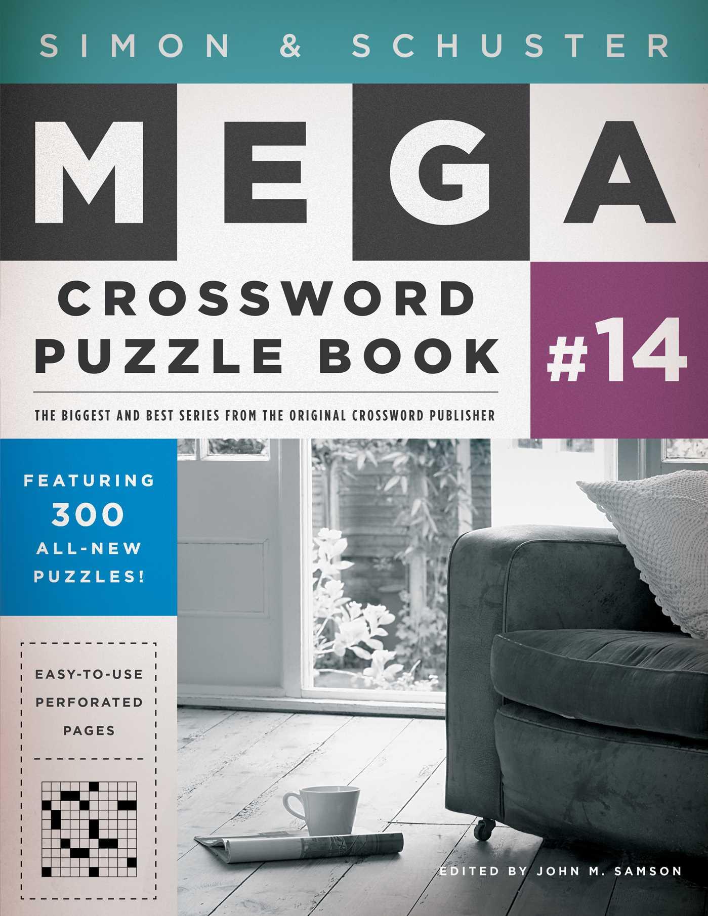 Simon schuster mega crossword puzzle book 14 9781476785455 hr