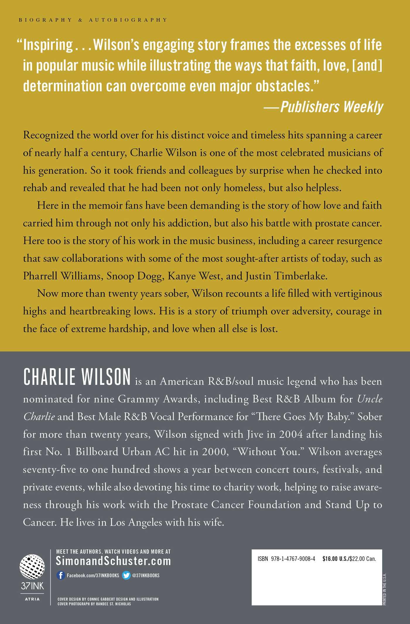 I am charlie wilson 9781476790084 hr back
