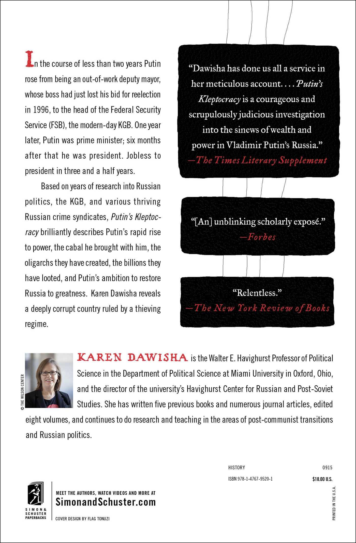 Putins kleptocracy book by karen dawisha official publisher putins kleptocracy 9781476795201 hr putins kleptocracy 9781476795201 hr back fandeluxe Image collections