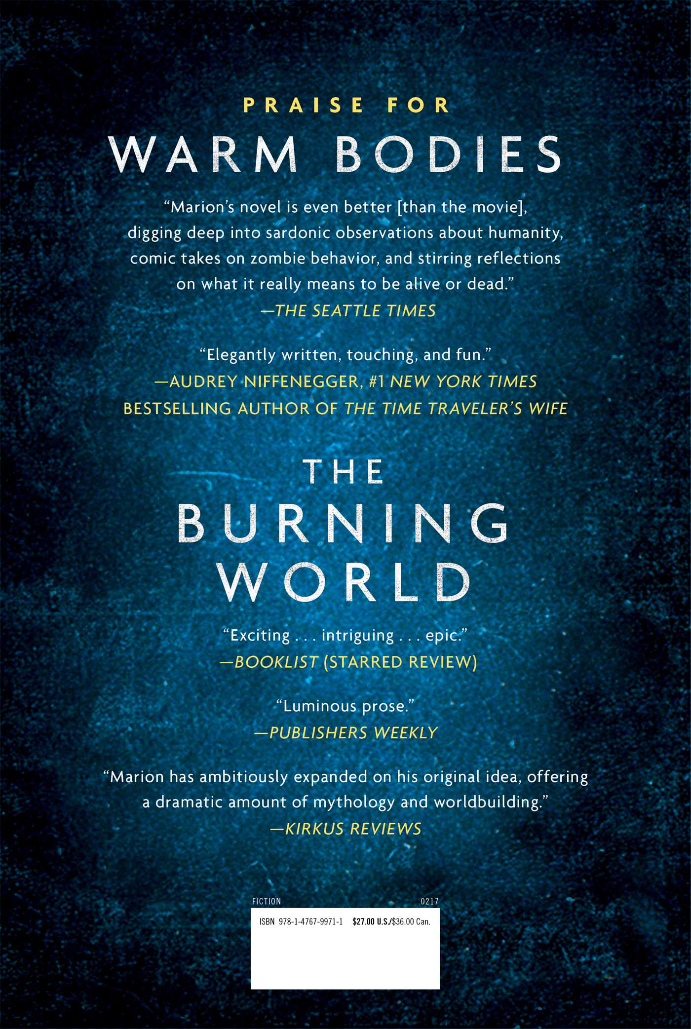 The burning world 9781476799711 hr back