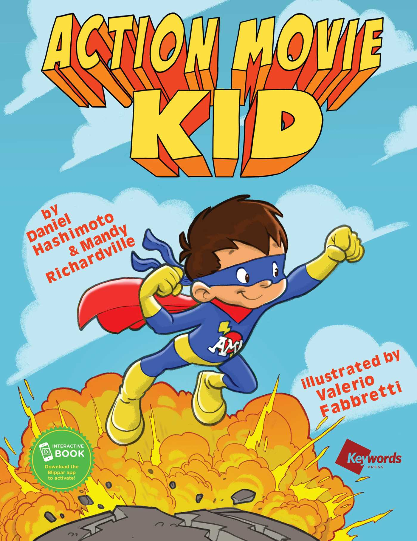 Cover Page For Kids Book : Action movie kid book by daniel hashimoto mandy