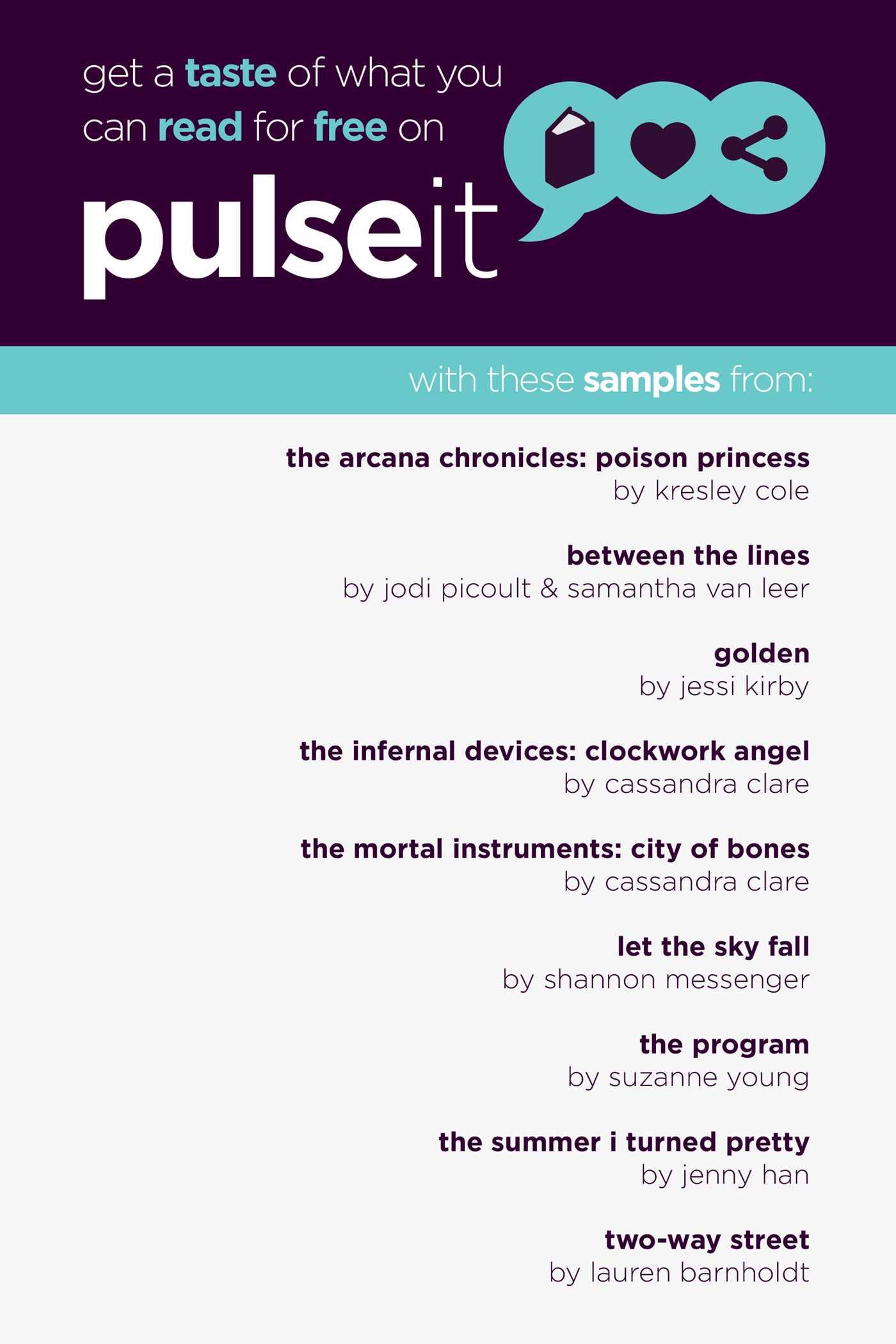 Get a taste of pulseit 9781481404273 hr