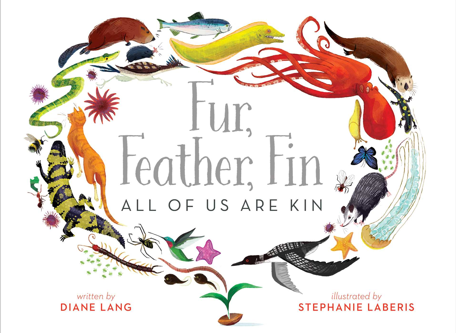 Fur feather fin all of us are kin 9781481447096 hr