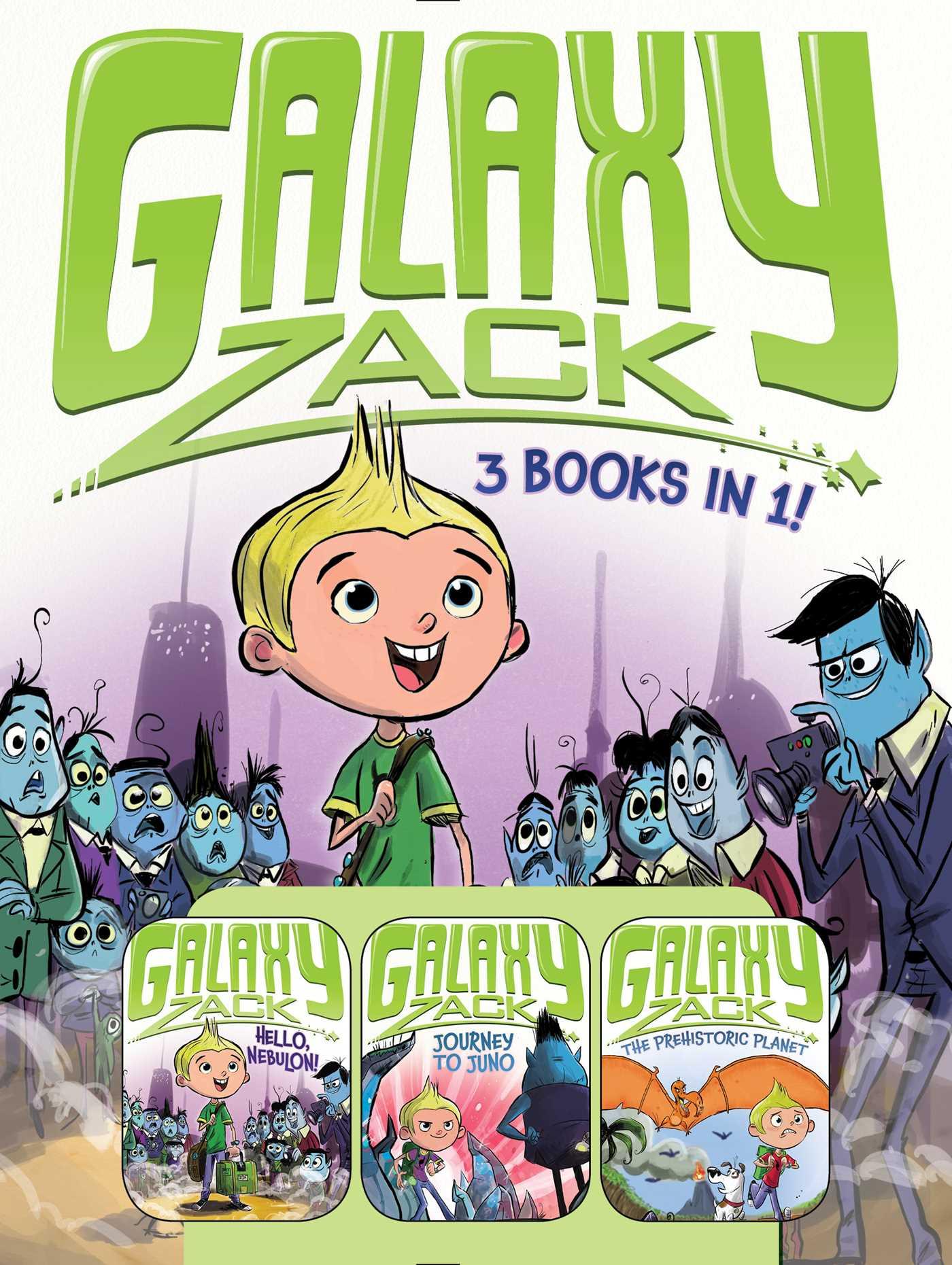 Galaxy zack 3 books in 1 9781481456418 hr