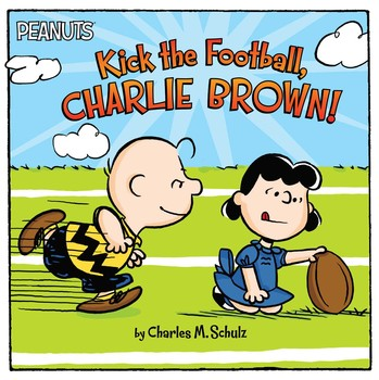 charlie brown and lucy football scene from meet