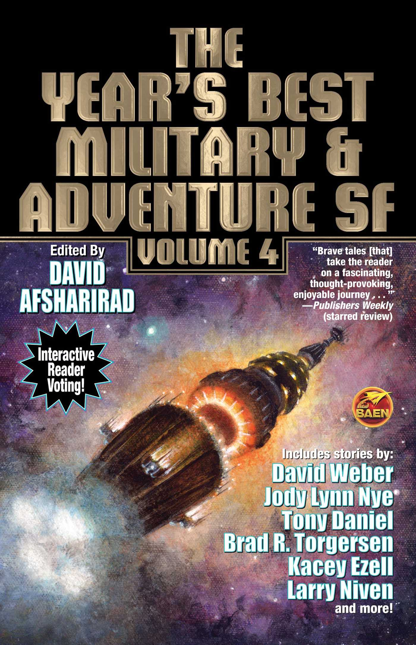 The years best military and adventure sf volume 4 9781481483322 hr
